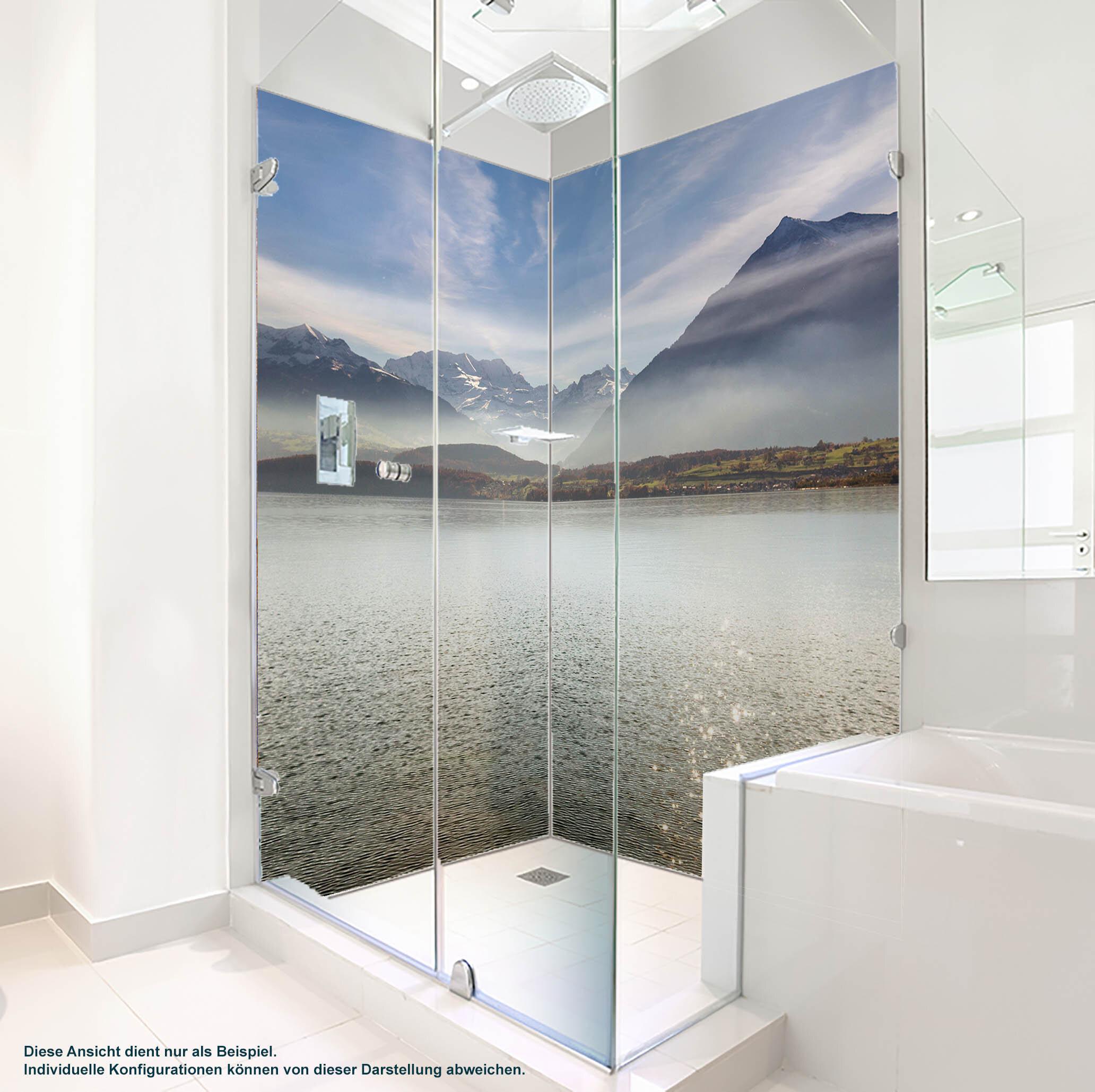 Dusche PlateART Duschrückwand mit Motiv Bergsee