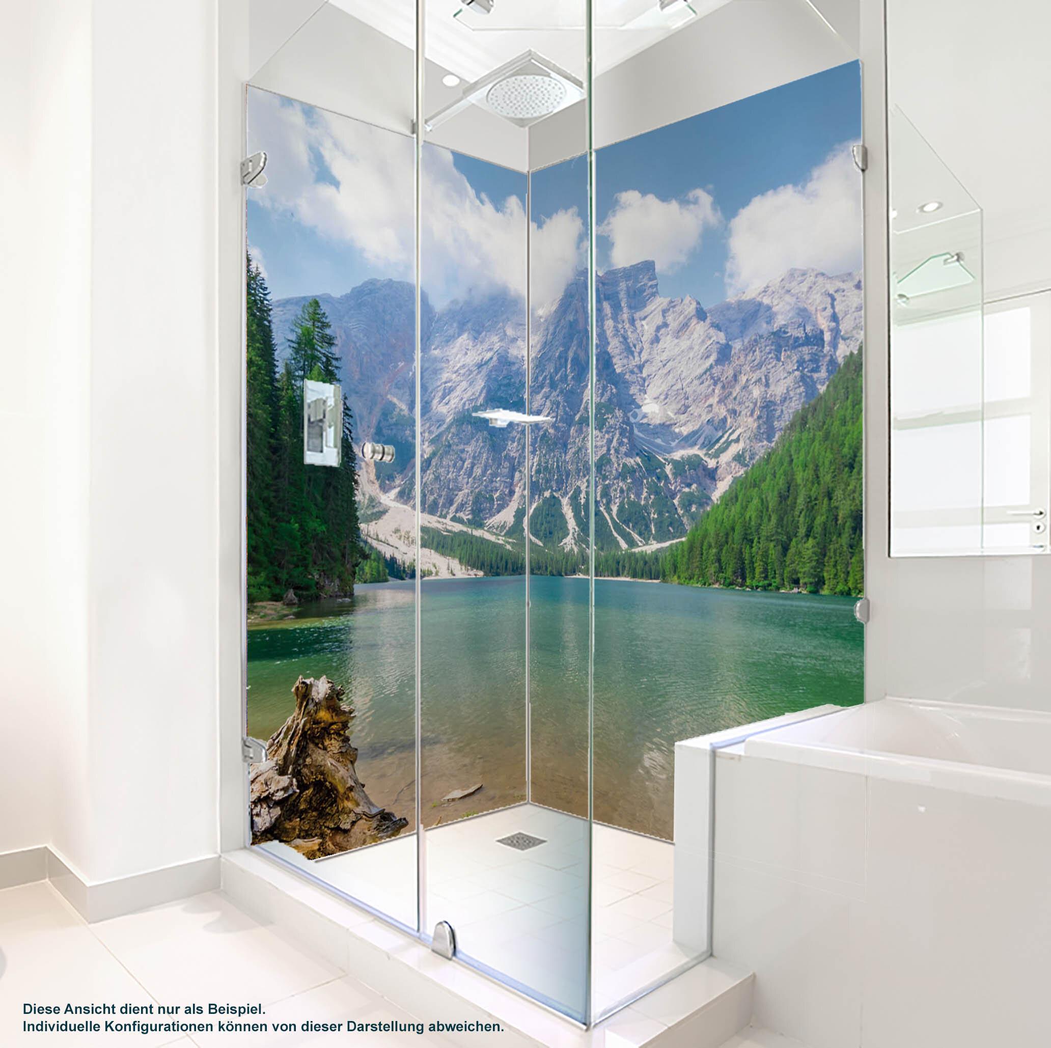 Dusche PlateART Duschrückwand mit Motiv Bergsee BS_05_20