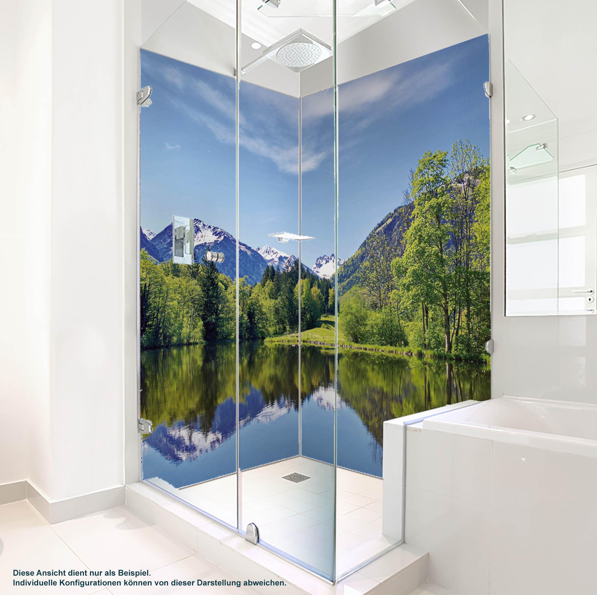 PlateART Duschrückwand mit Motiv Bergsee BS_10_20