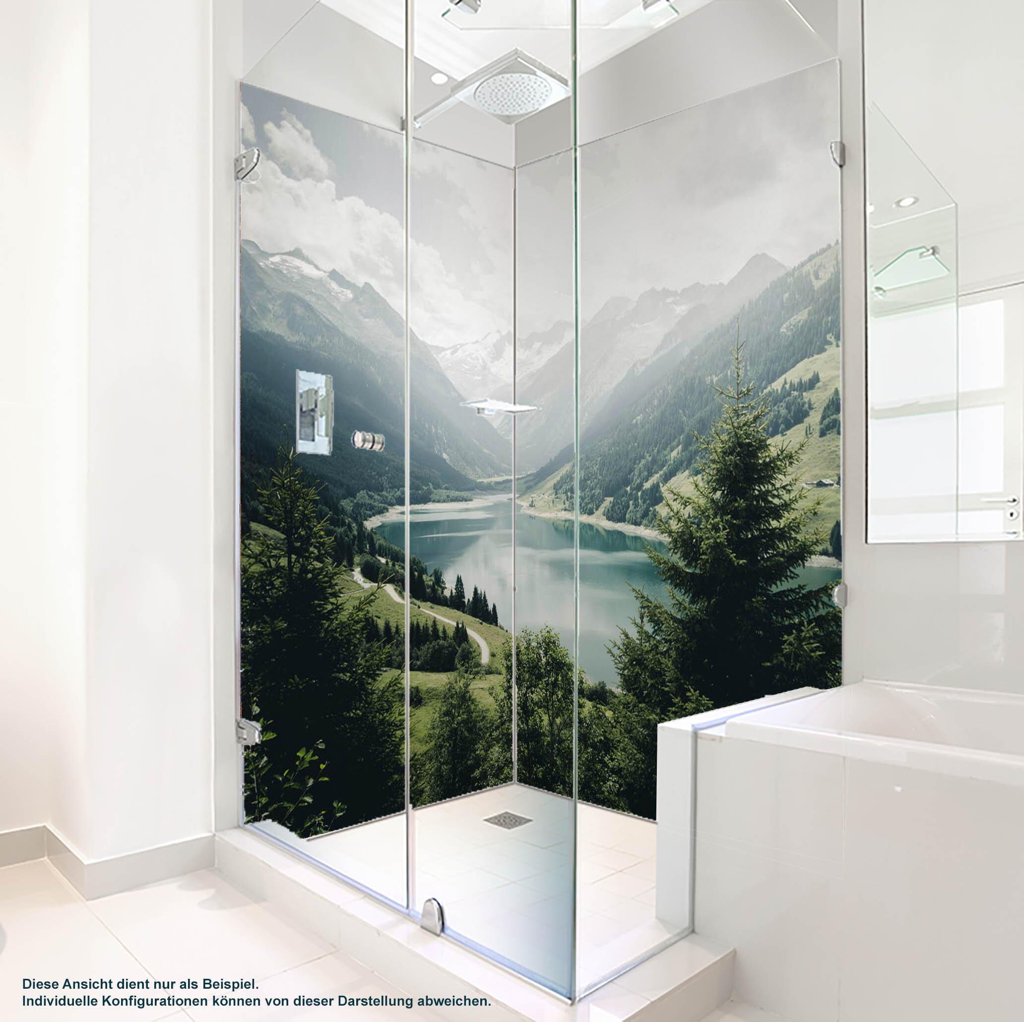 PlateART Duschrückwand mit Motiv Bergsee BS_11_20