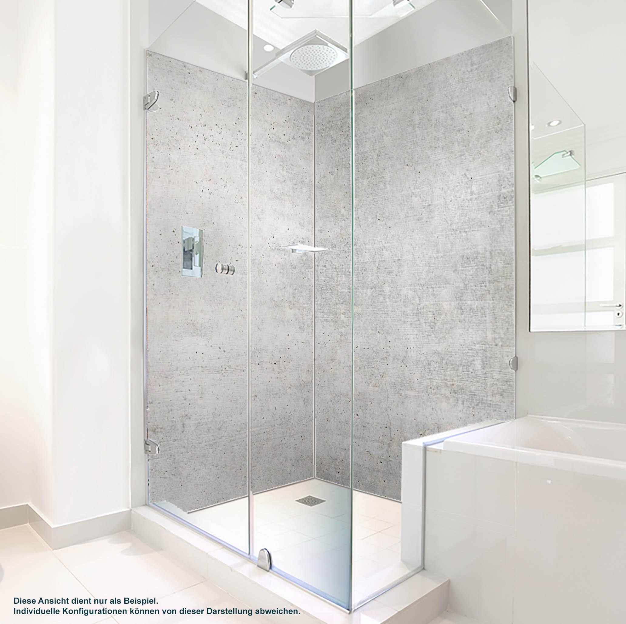 Dusche PlateART Duschrückwand mit Motiv Beton