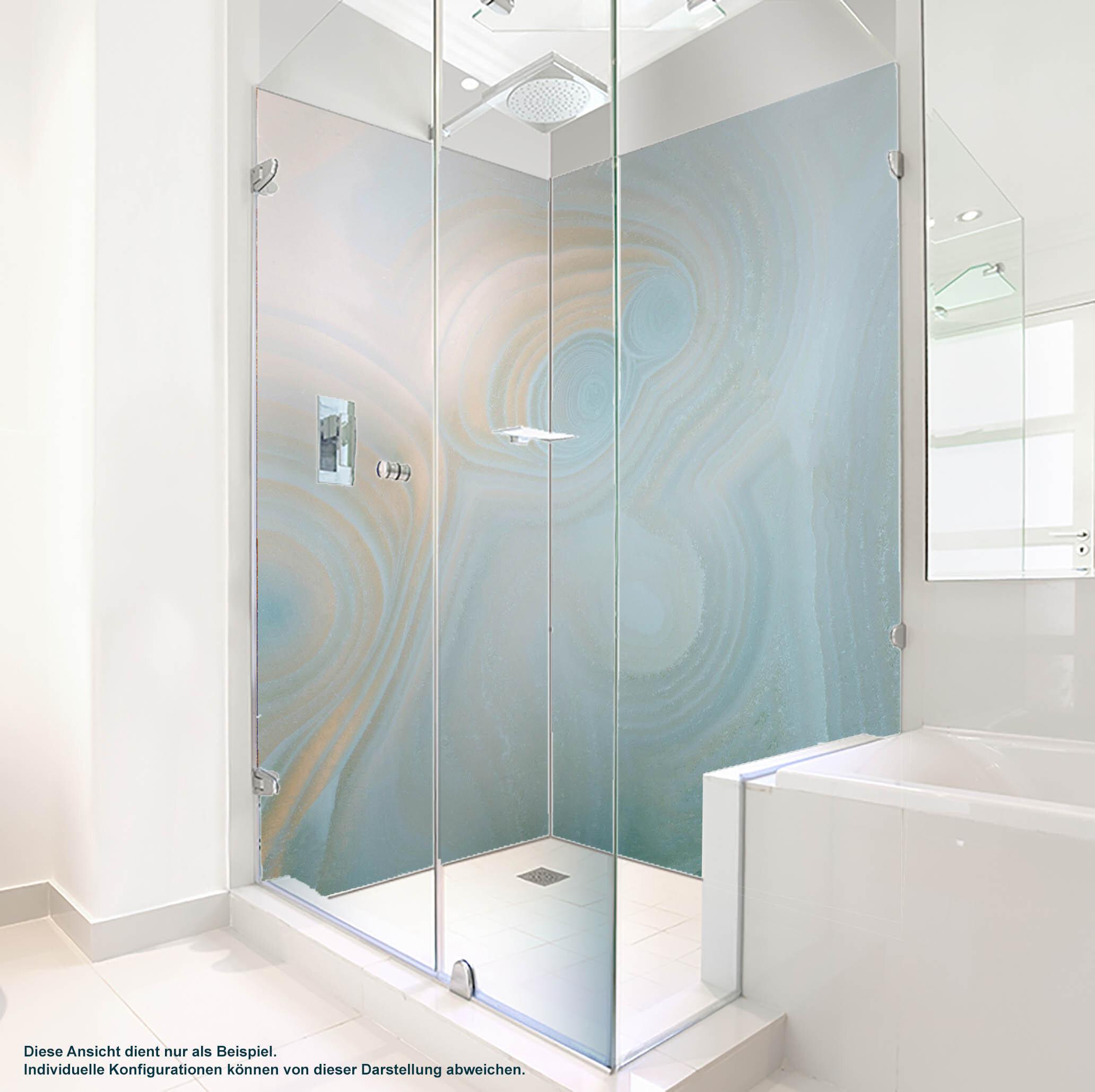 Dusche PlateART Duschrückwand mit Motiv Achat Hellblau