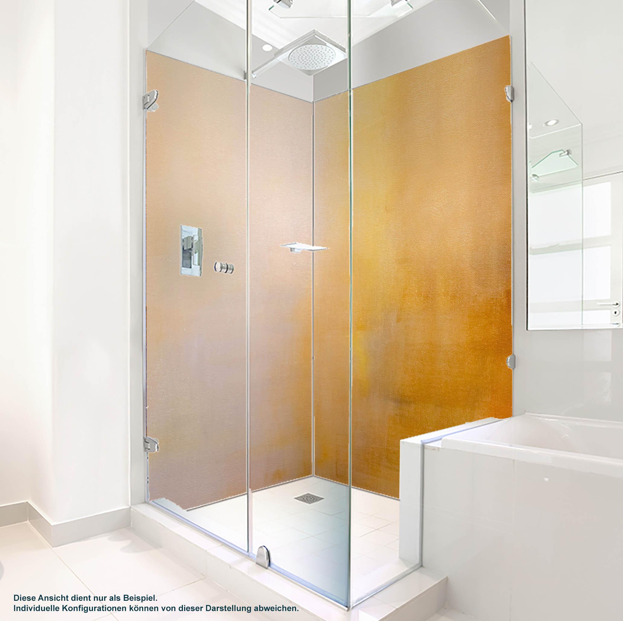 Dusche PlateART Duschrückwand mit Motiv Design Leinwand Orange