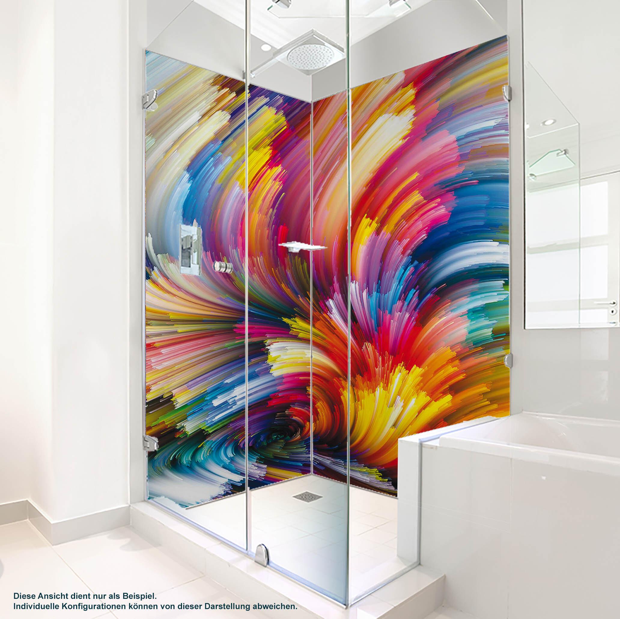 Dusche PlateART Duschrückwand mit Motiv Farbexplosion