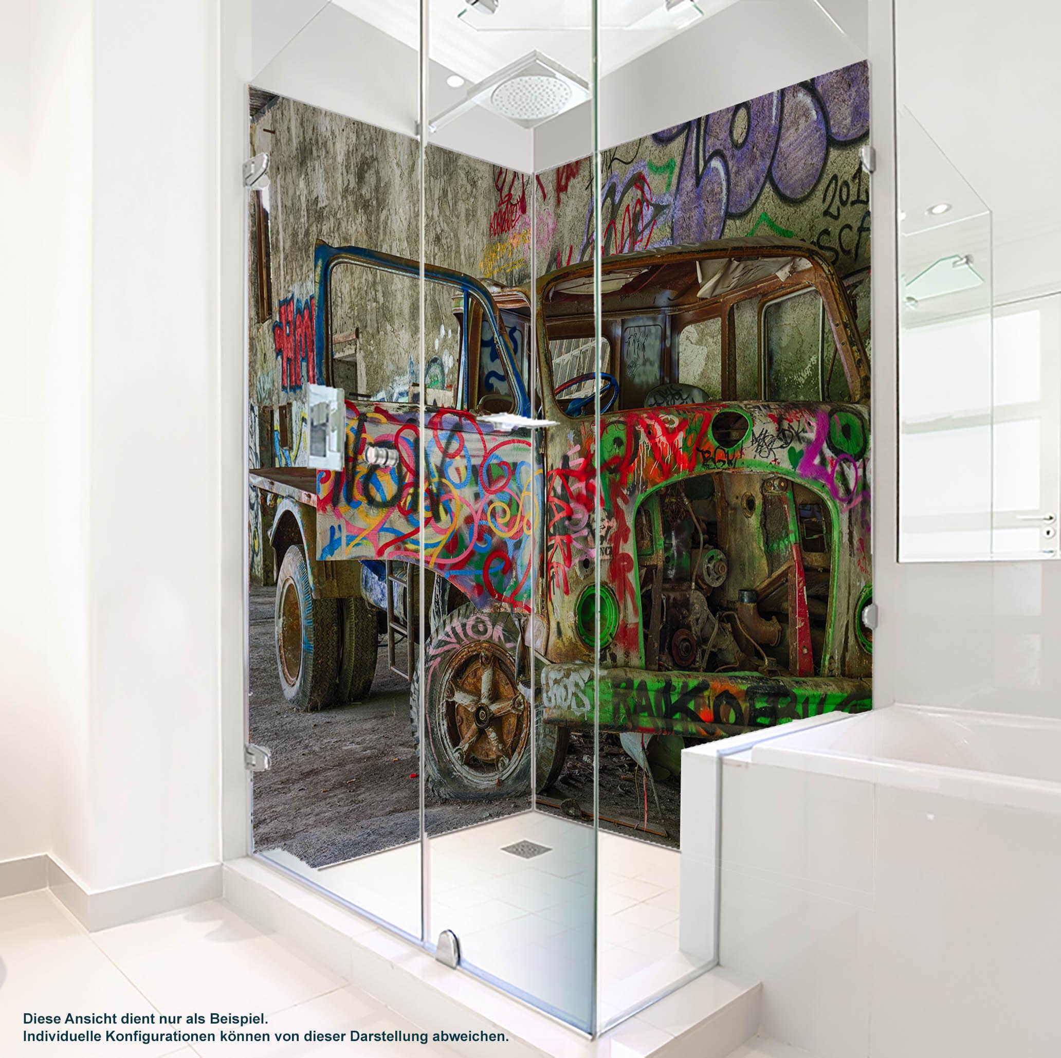 Dusche PlateART Duschrückwand mit Motiv Graffiti