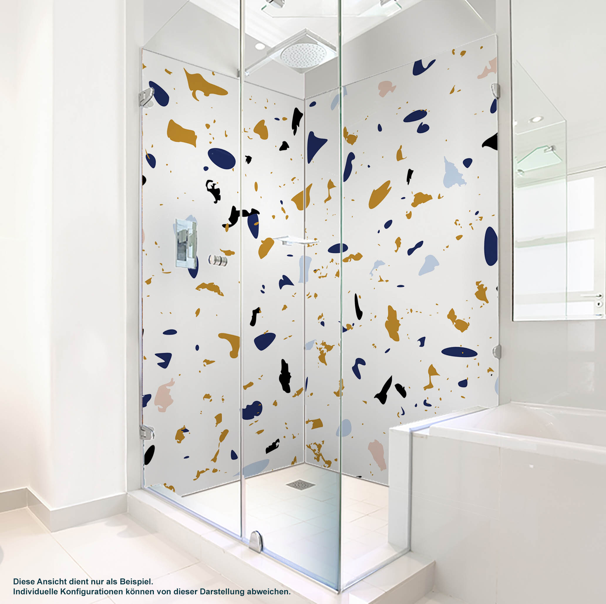 Dusche PlateART Duschrückwand mit Motiv Farben