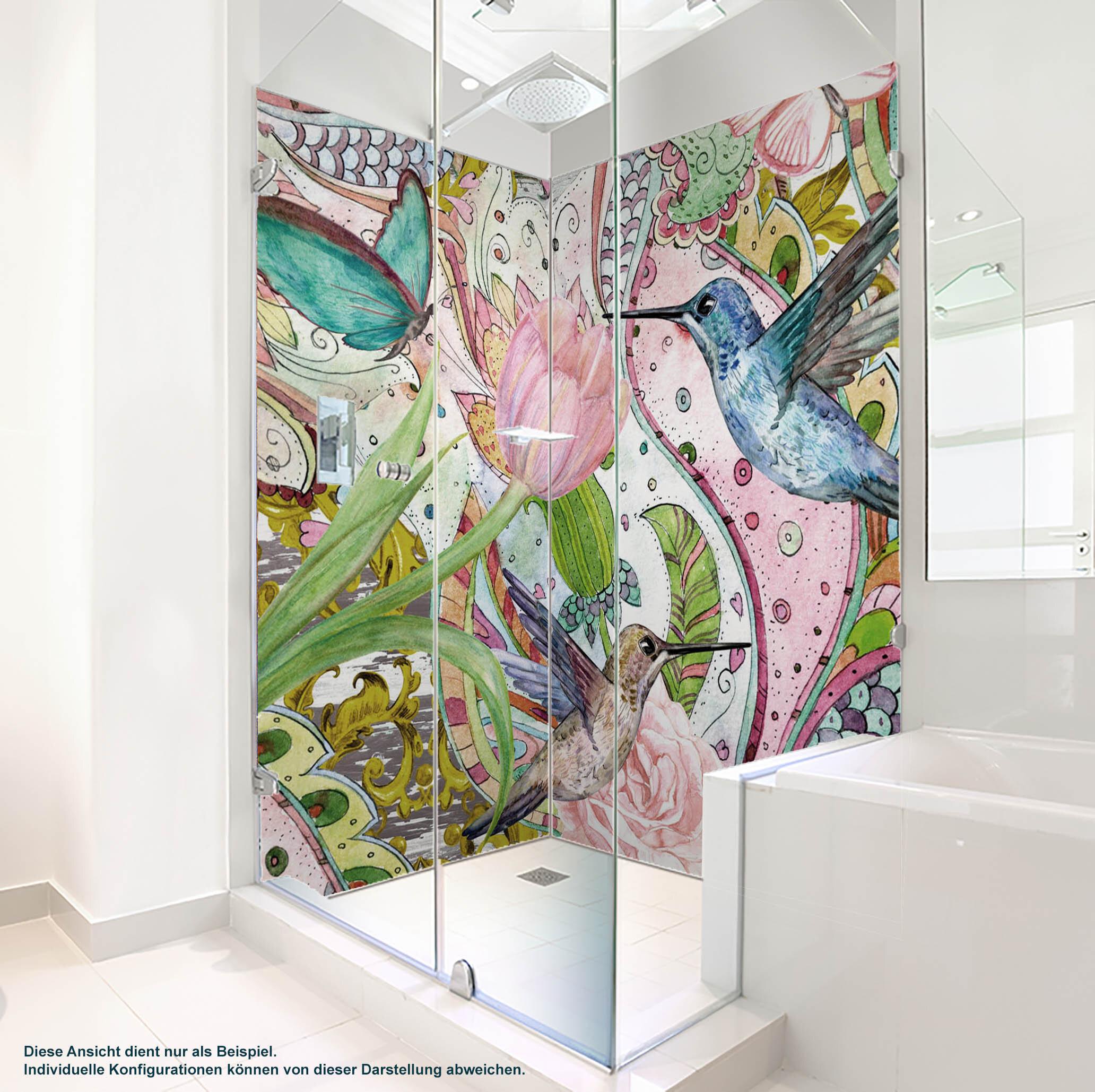 Dusche PlateART Duschrückwand mit Motiv Kolibri