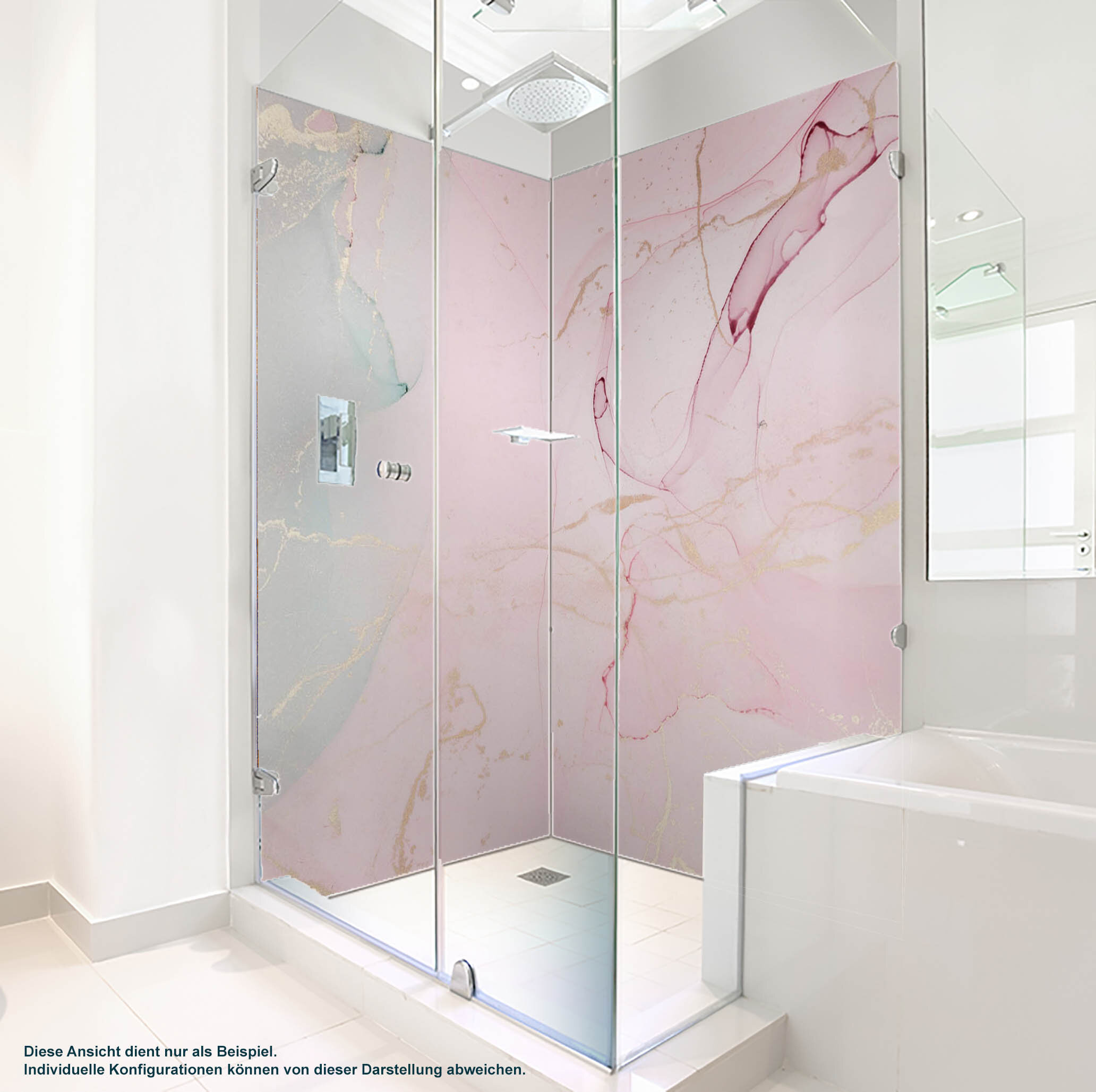 Dusche PlateART Duschrückwand mit Motiv Design Rosa