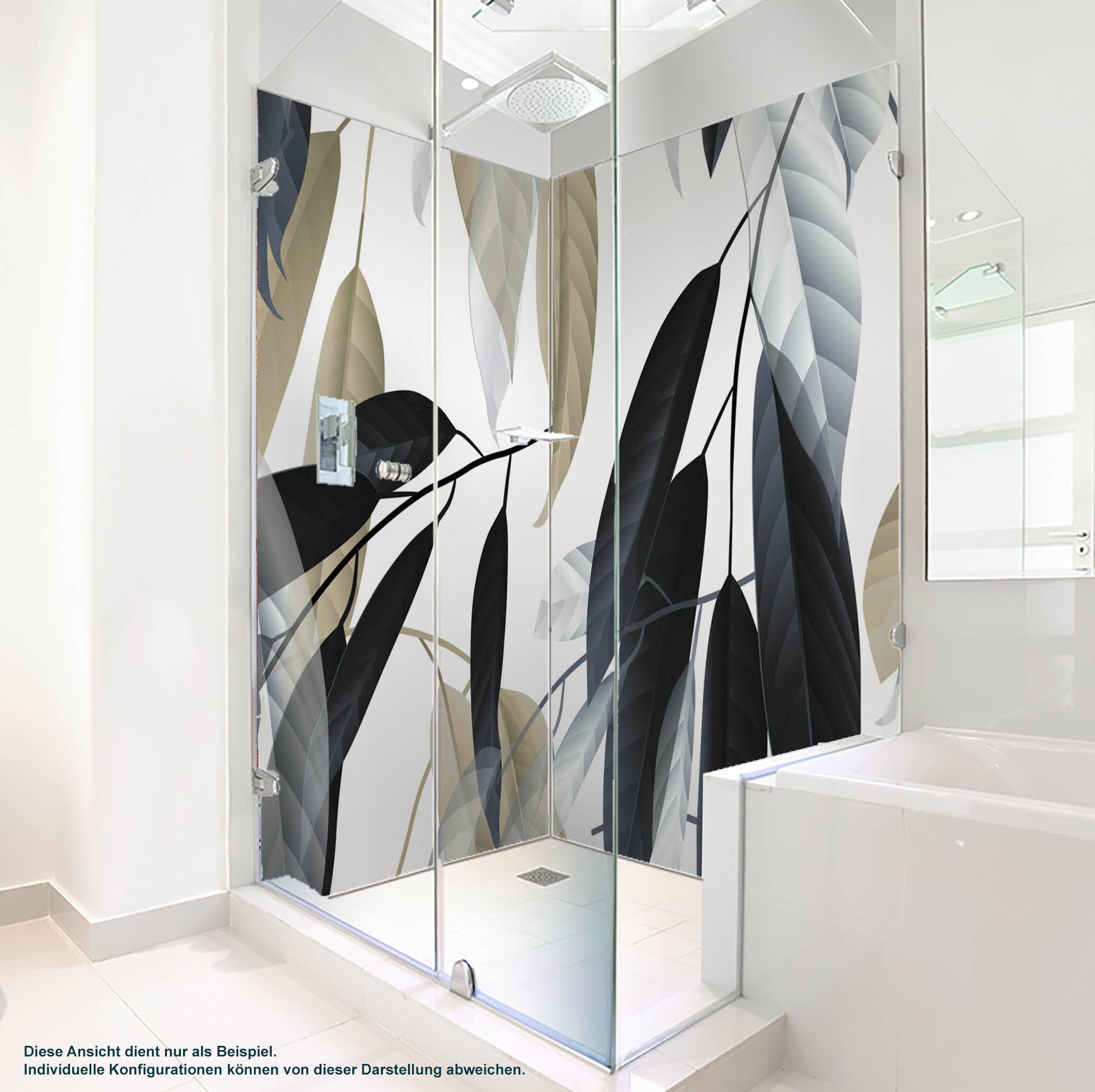 Dusche PlateART Wandverkleidung mit Motiv Blätter