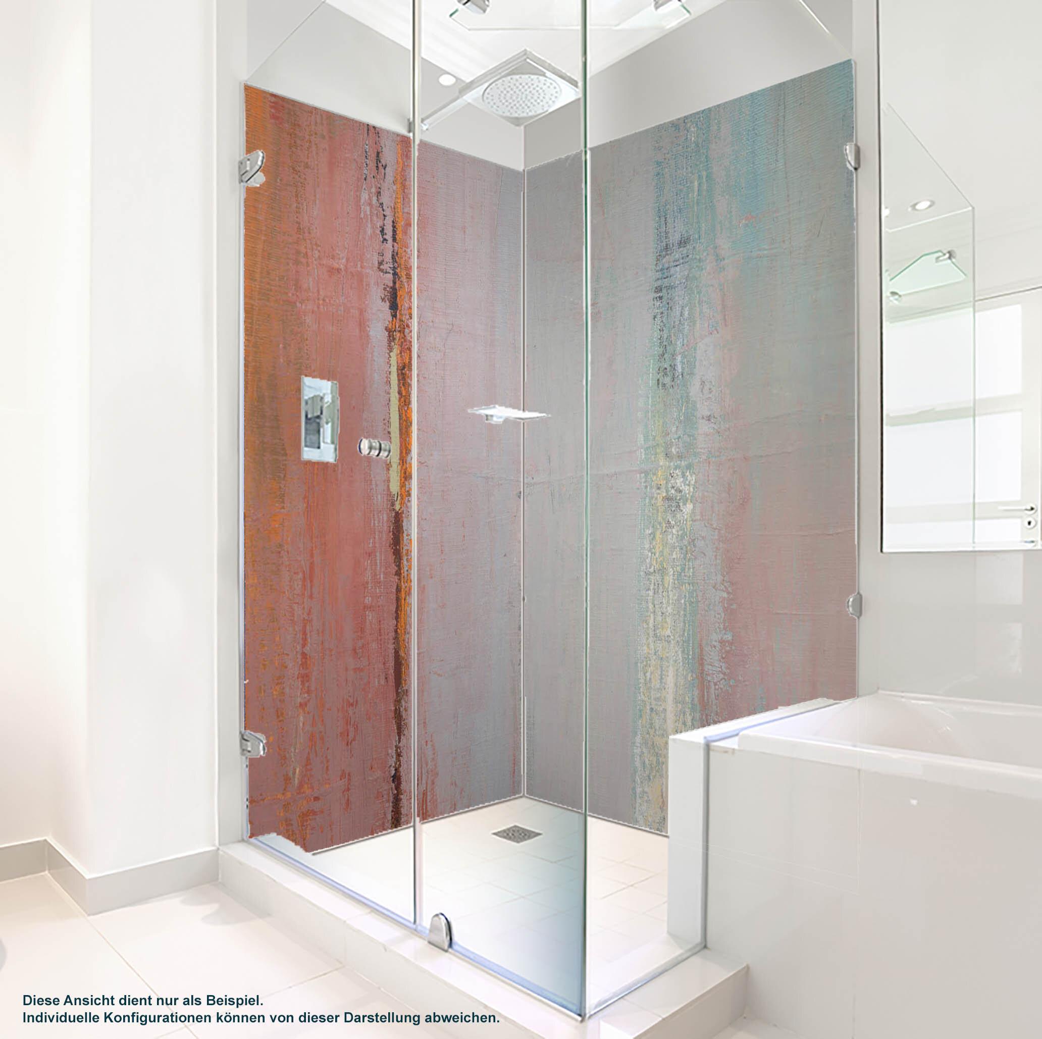 Dusche PlateART Duschrückwand mit Motiv Trendwand Ölfarben