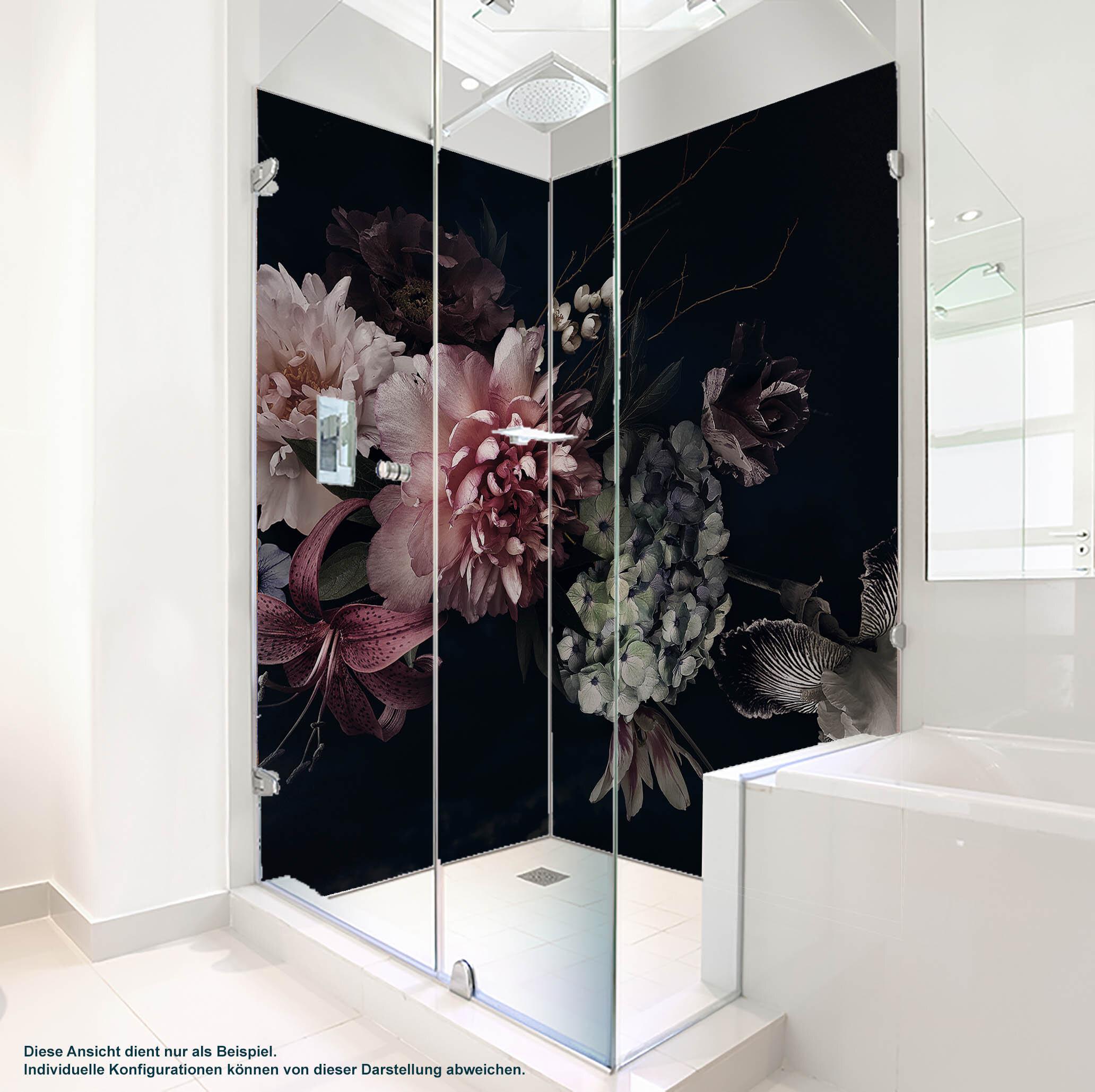 Dusche PlateART Wandverkleidung mit Motiv Blume und Blüten