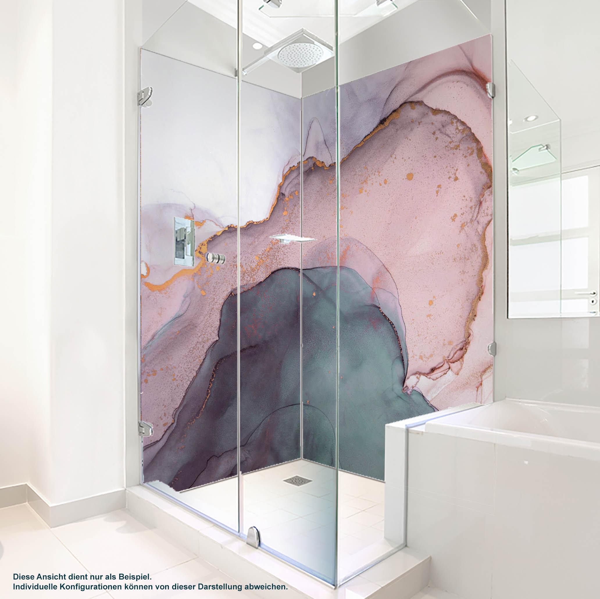 Dusche PlateART Duschrückwand mit Motiv Trendwand Design