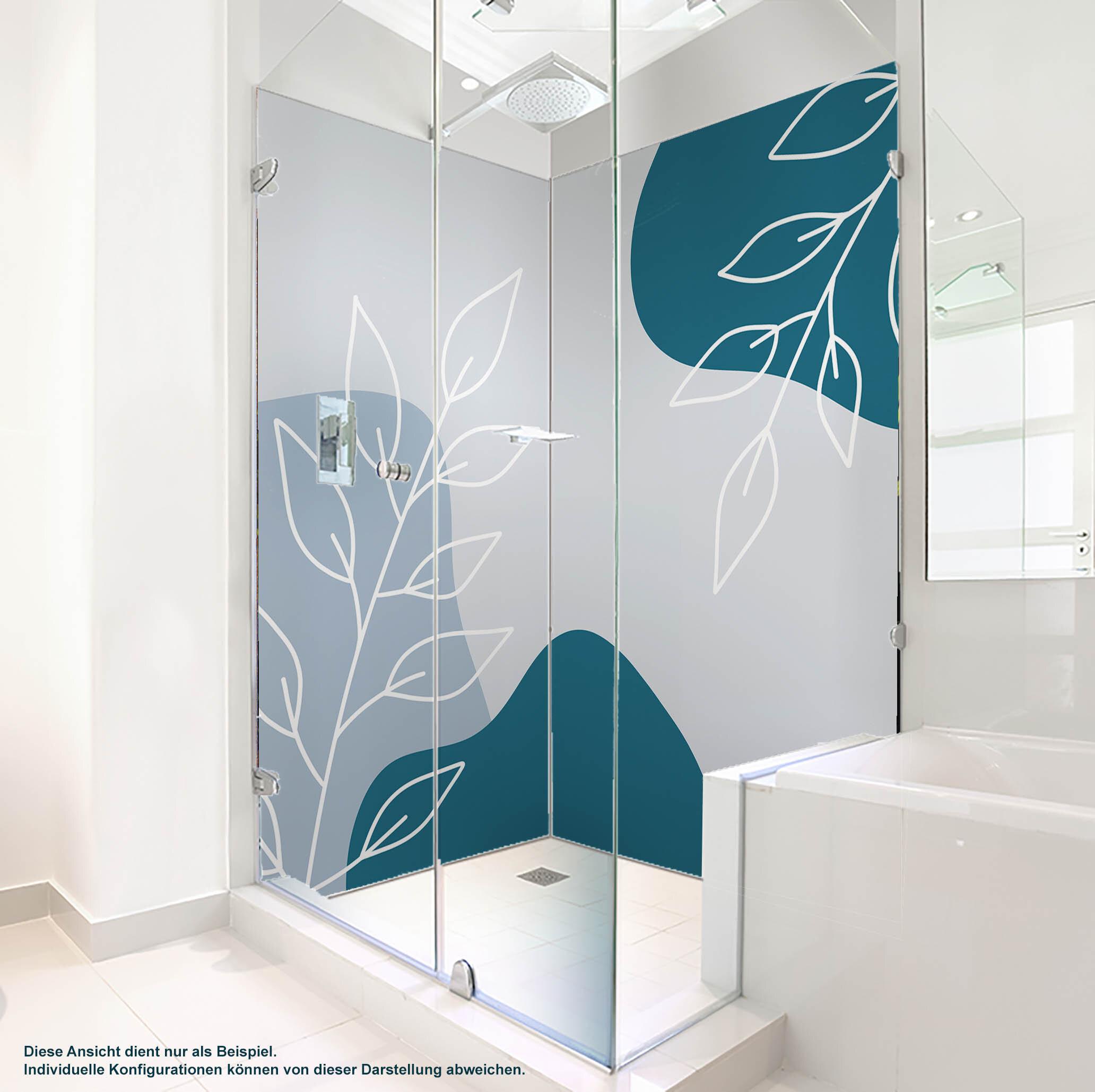 Dusche PlateART Wandverkleidung mit Motiv Grafik Zweige