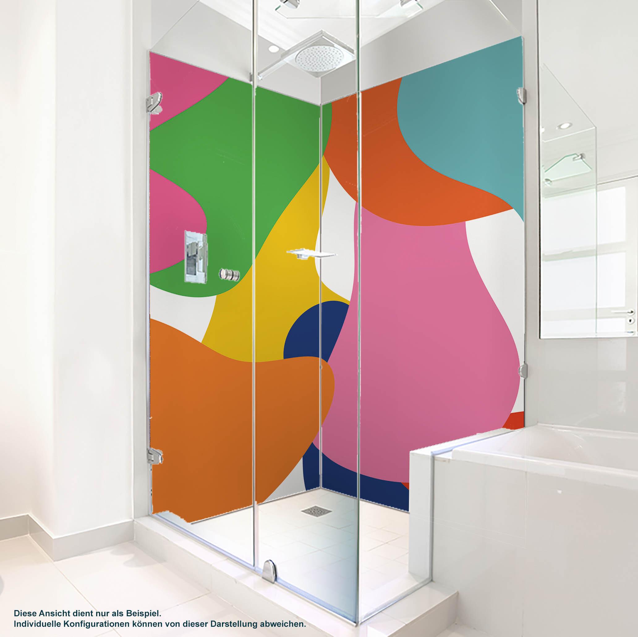 Dusche PlateART Duschrückwand mit Motiv Trendwand Farben