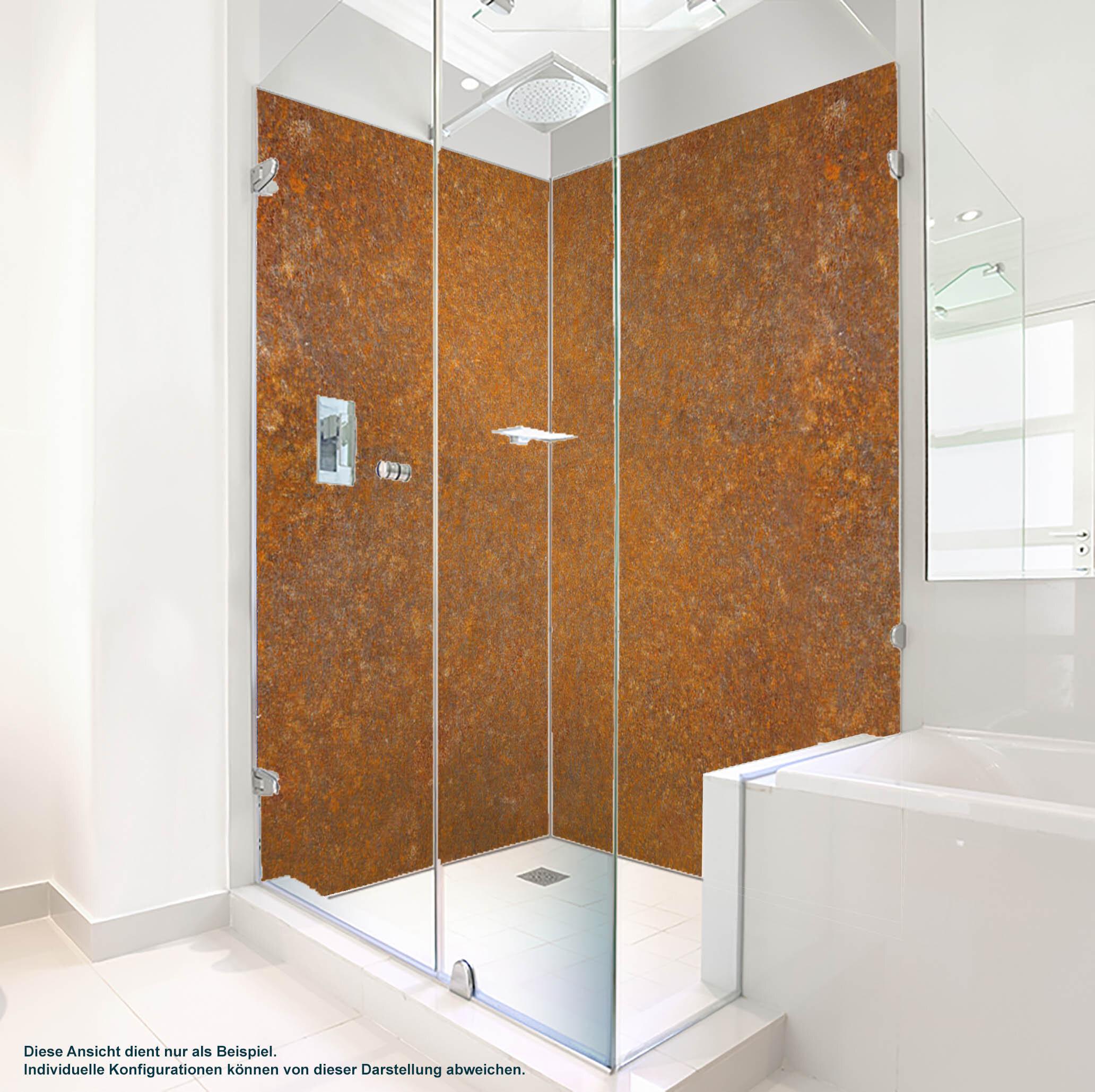 Dusche PlateART Duschrückwand mit Motiv Rost