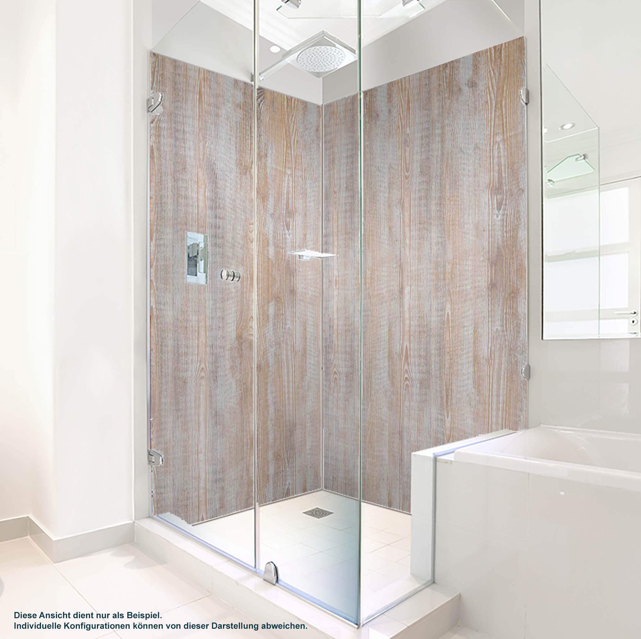 Dusche PlateART Duschrückwand mit Motiv Holzoptik Altholz