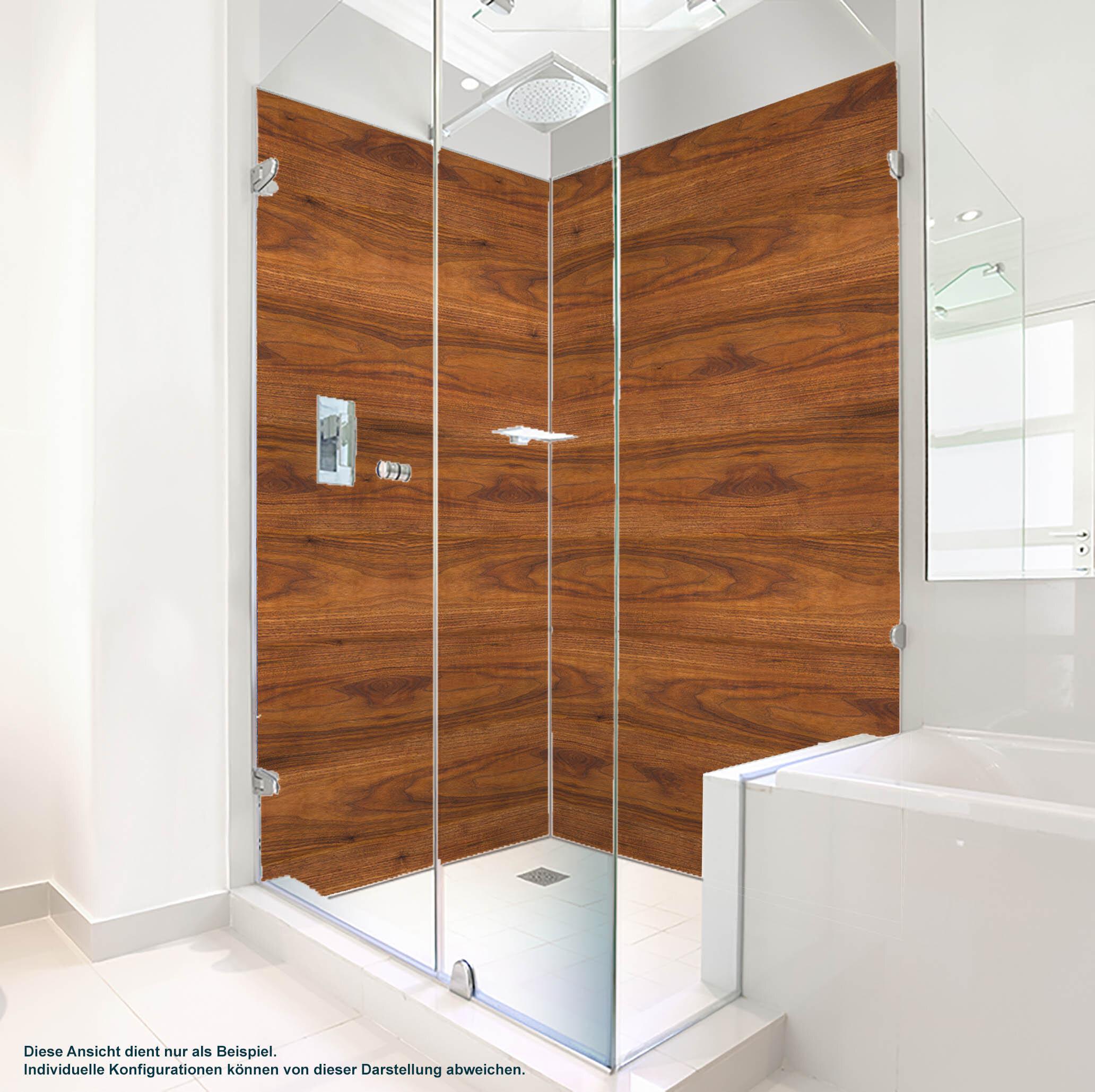 Dusche PlateART Duschrückwand mit Motiv Holzoptik
