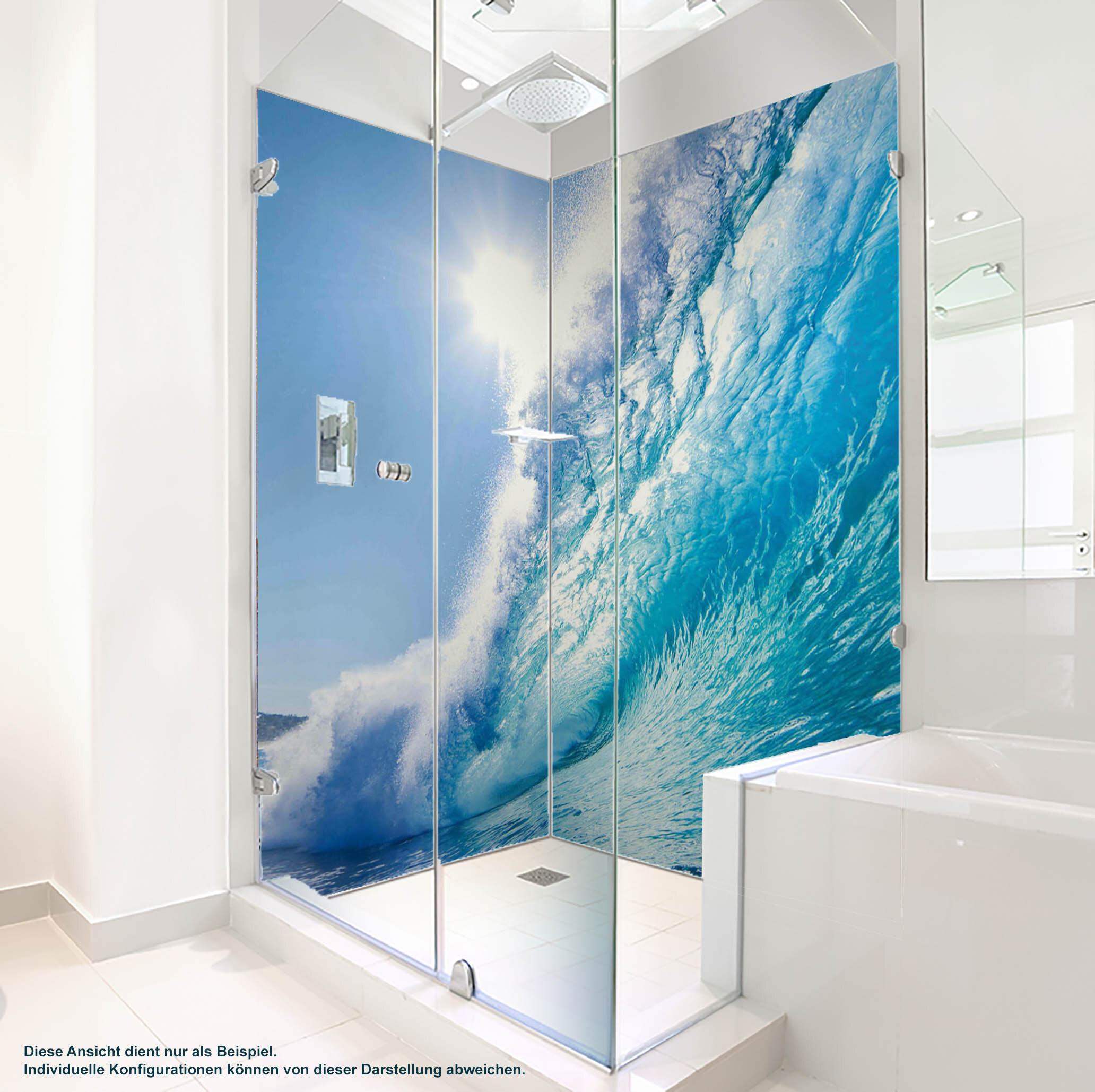 Dusche PlateART Duschrückwand mit Motiv Welle