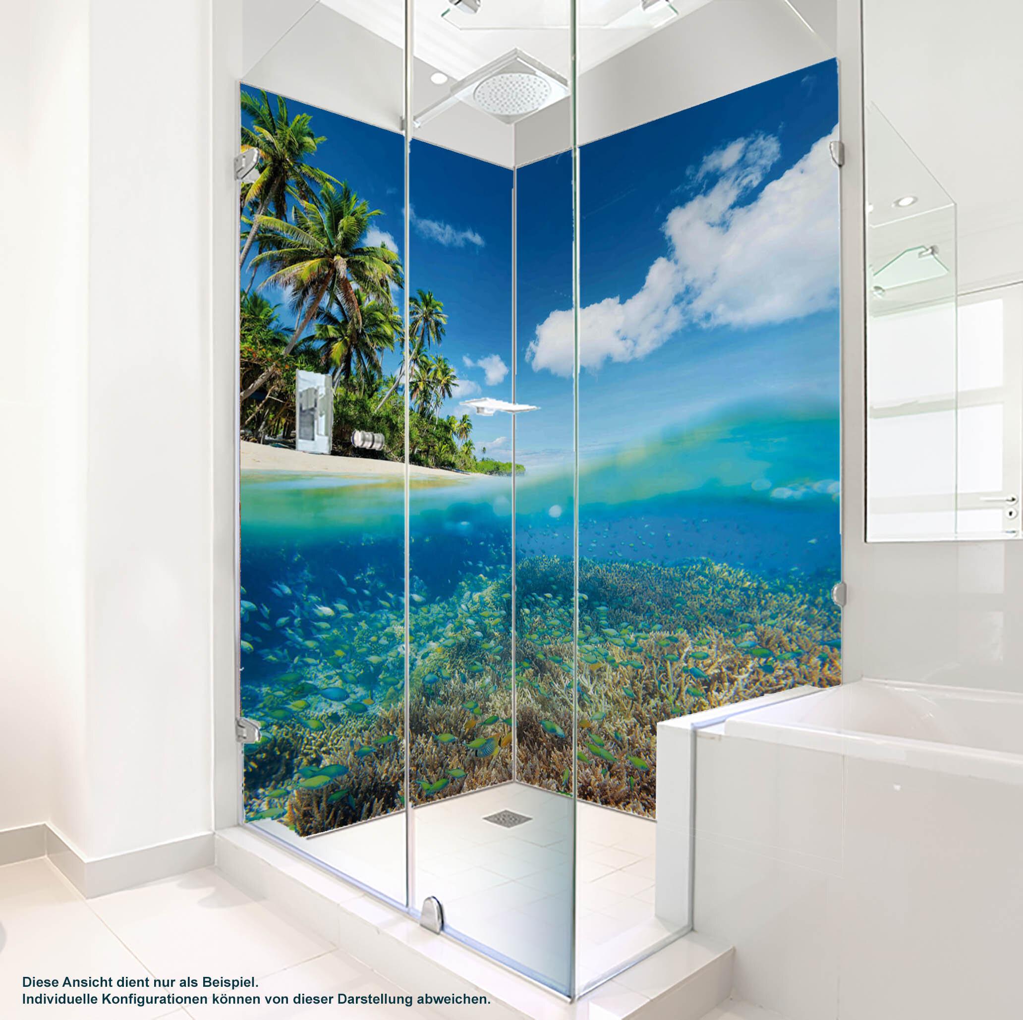 Dusche PlateART Duschrückwand mit Motiv Strand und Meer K_12_18