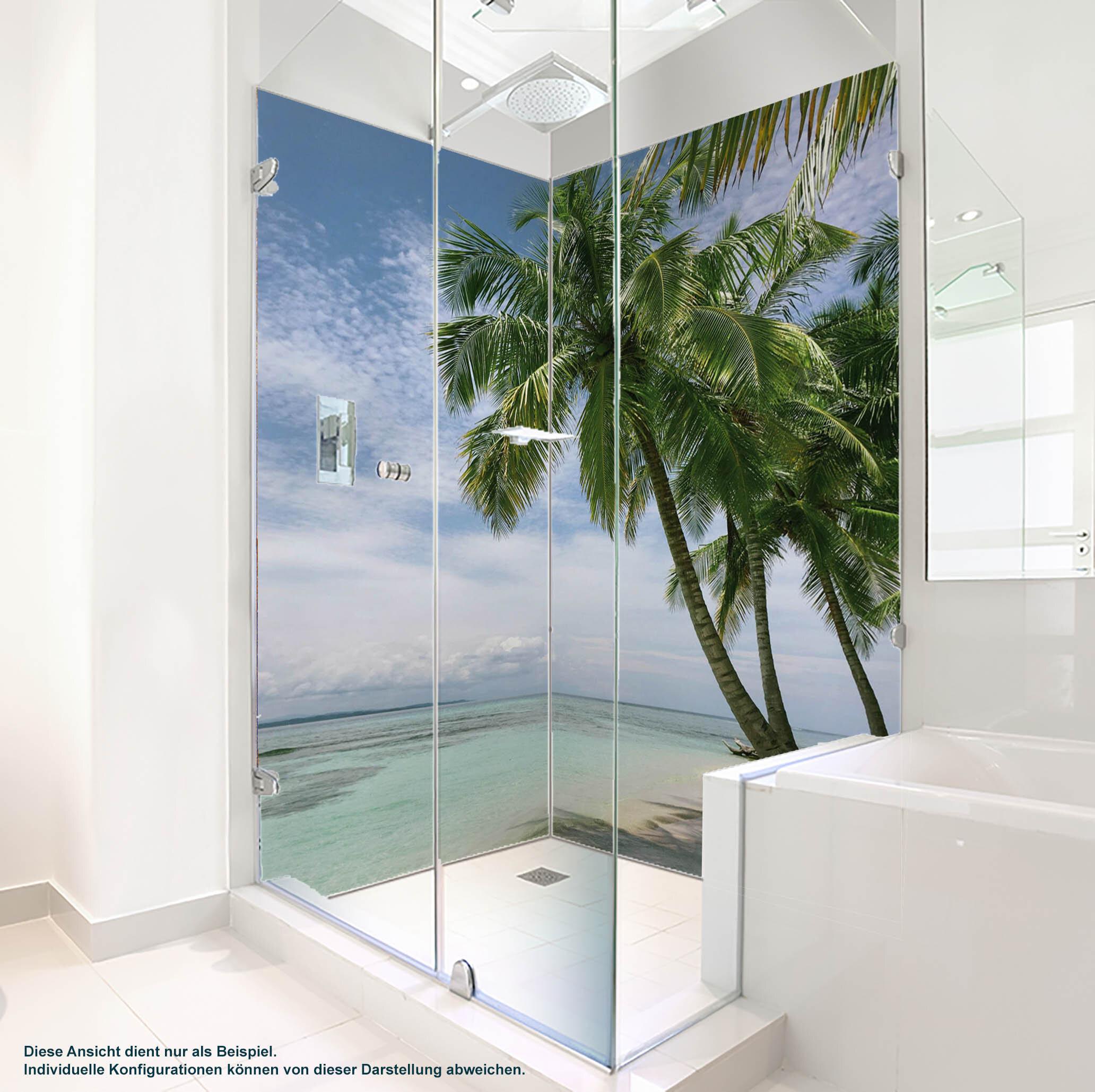 Dusche PlateART Duschrückwand mit Motiv Strand und Meer K_15_20