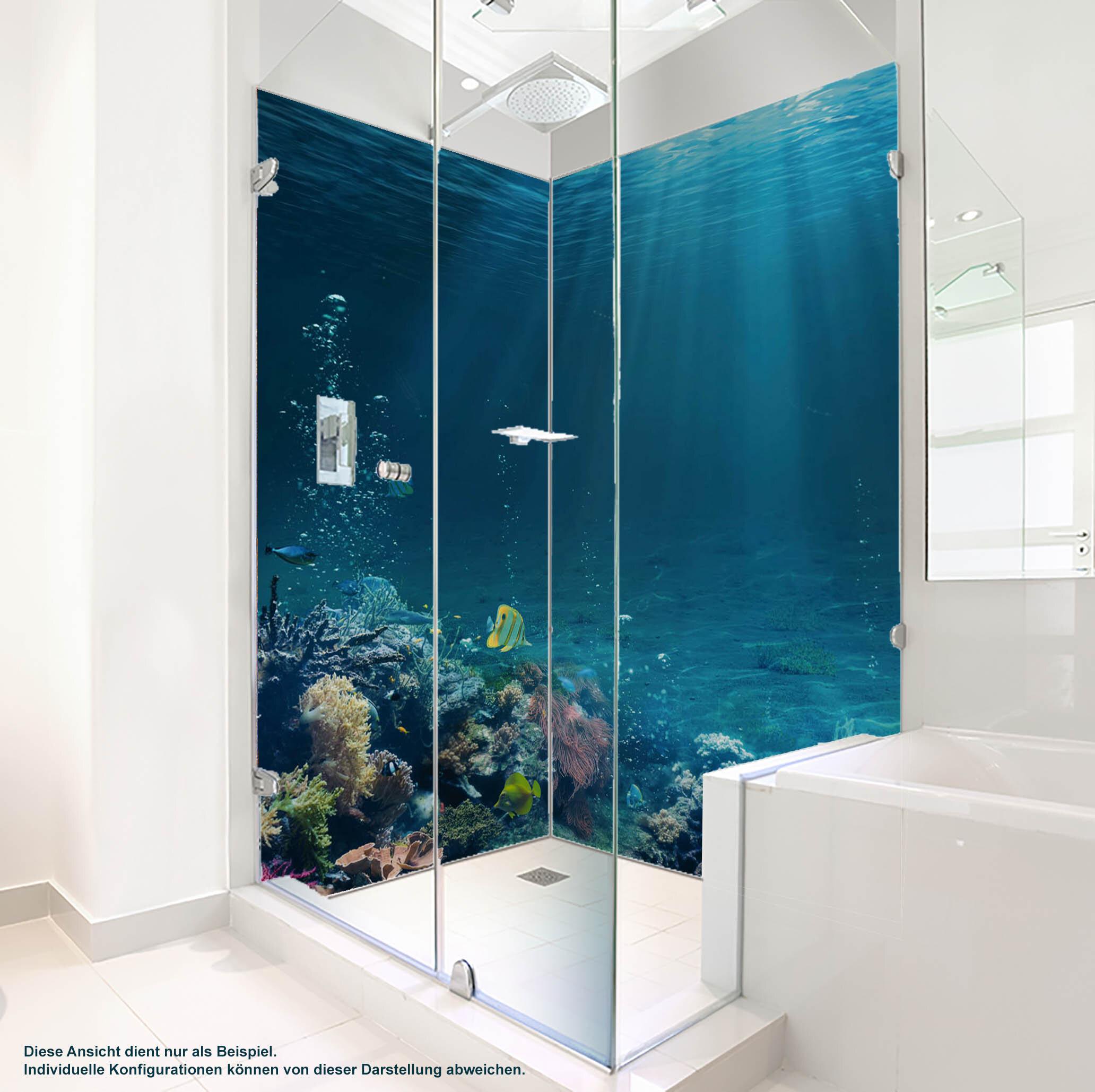 Dusche PlateART Duschrückwand mit Motiv Strand und Meer K_21_20