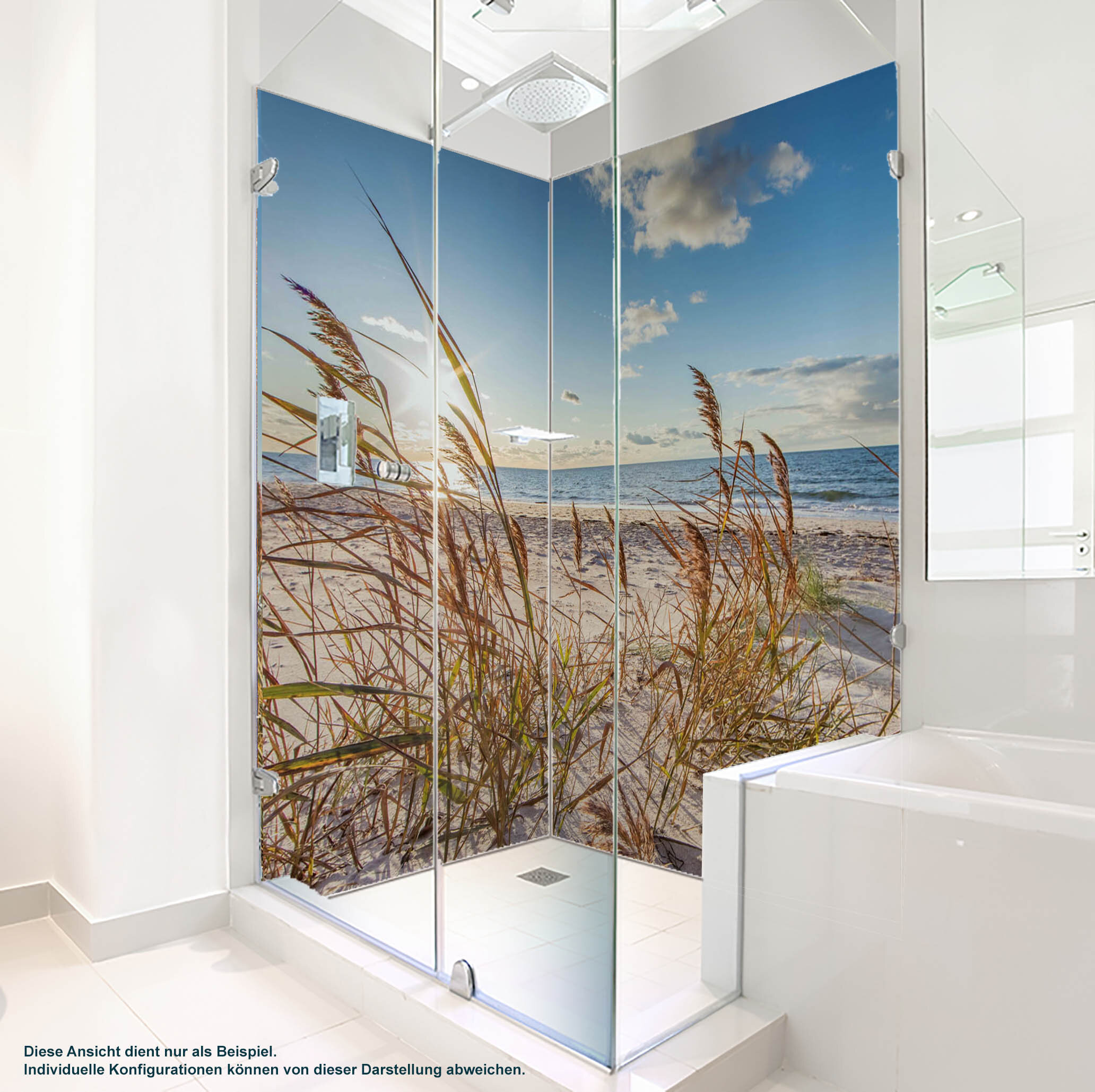 Dusche PlateART Duschrückwand mit Motiv Strand und Meer Ostsee