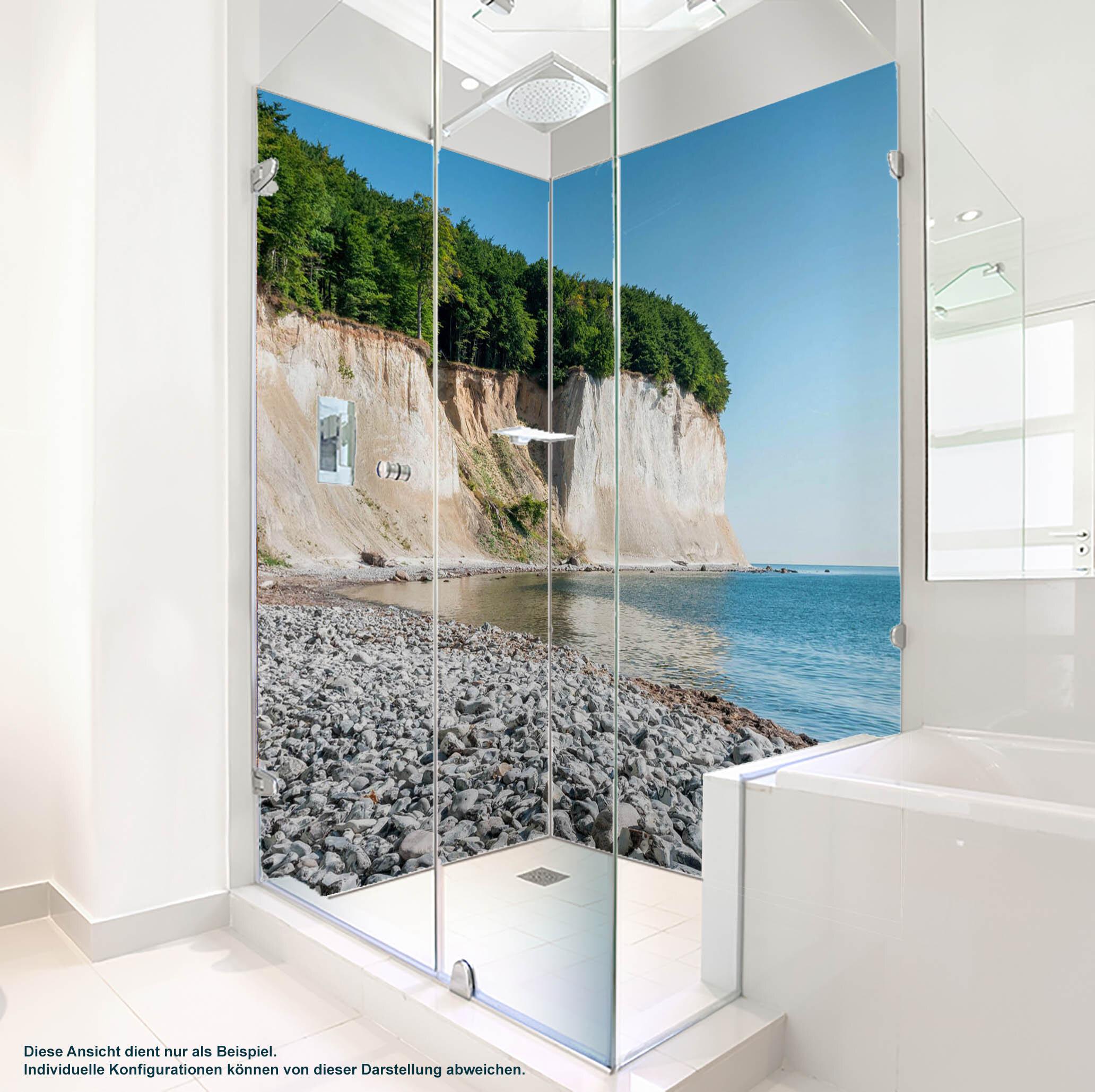 Dusche PlateART Duschrückwand mit Motiv Strand und Meer Rücgen