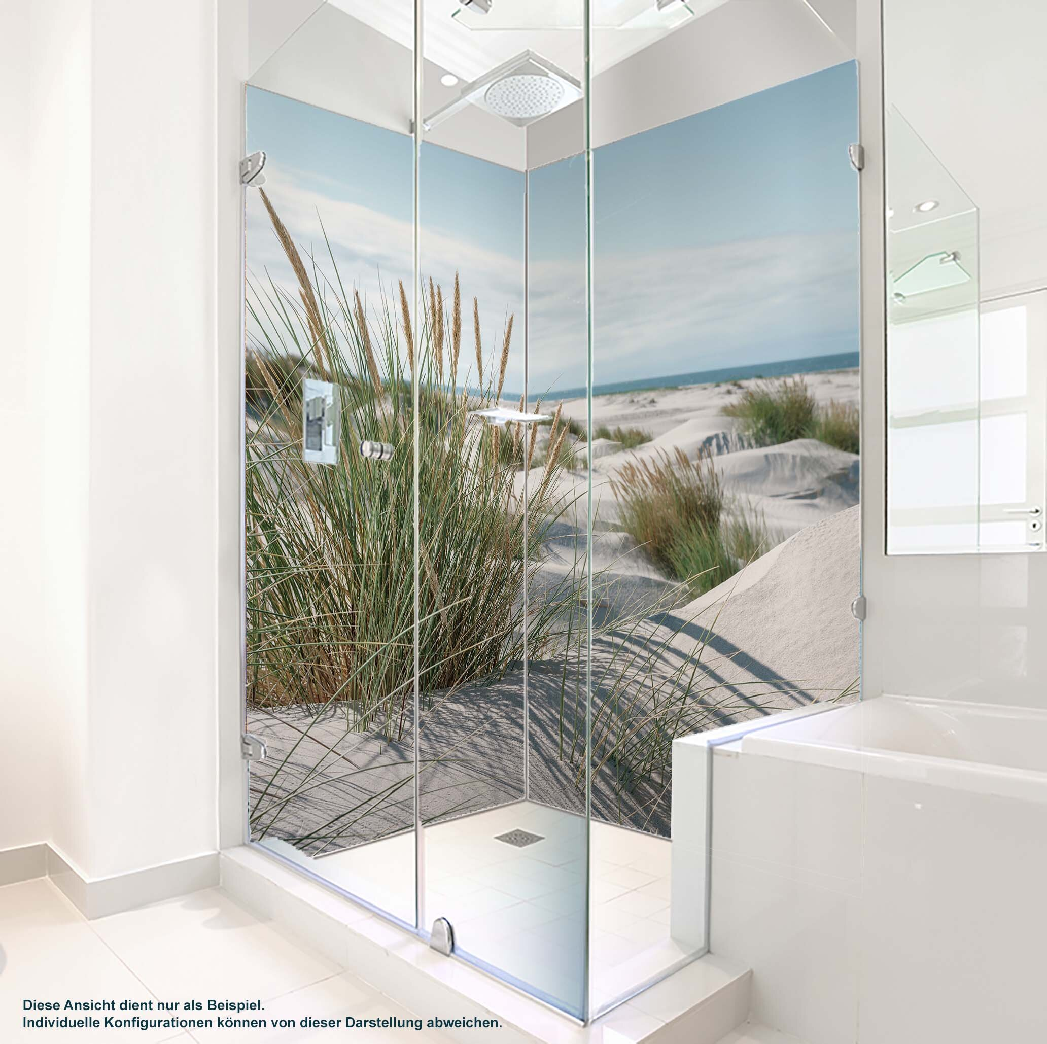 Dusche PlateART Duschrückwand mit Motiv Strand an der Nordsee