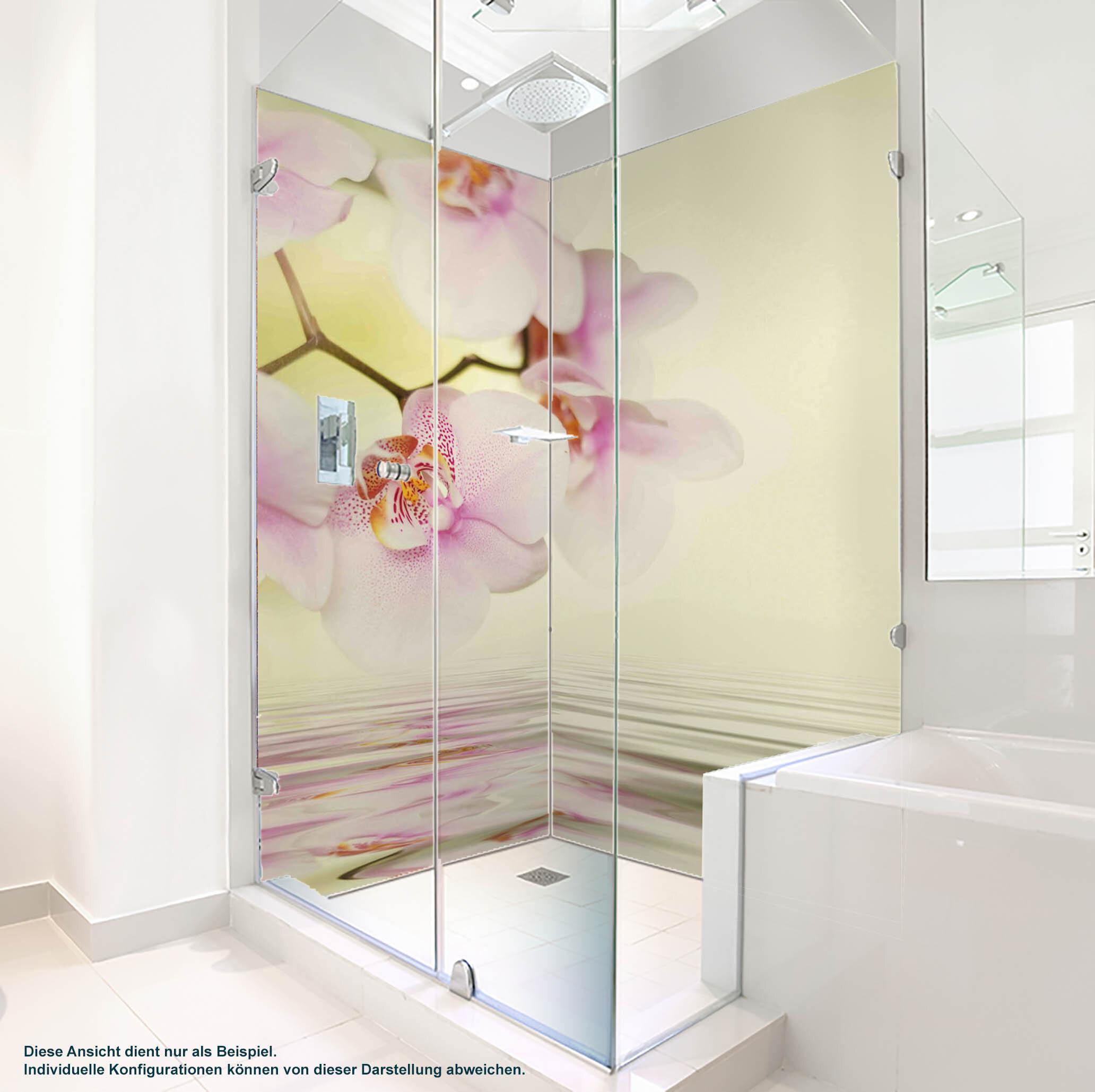 Dusche PlateART Duschrückwand mit Motiv Wellness Orchidee