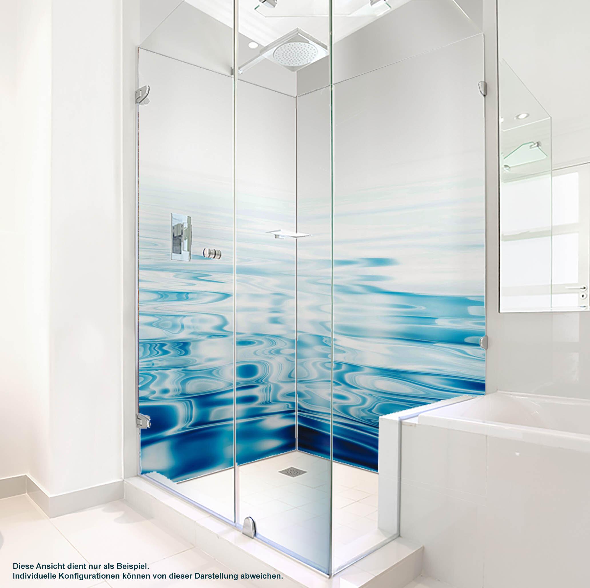 Dusche PlateART Duschrückwand mit Motiv Wellness Wasser