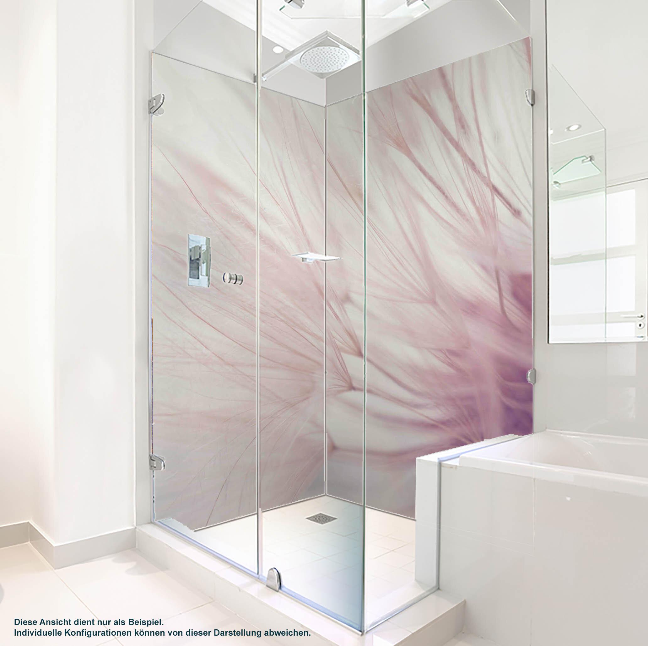 Dusche PlateART Duschrückwand mit Motiv Wellness Pusteblume