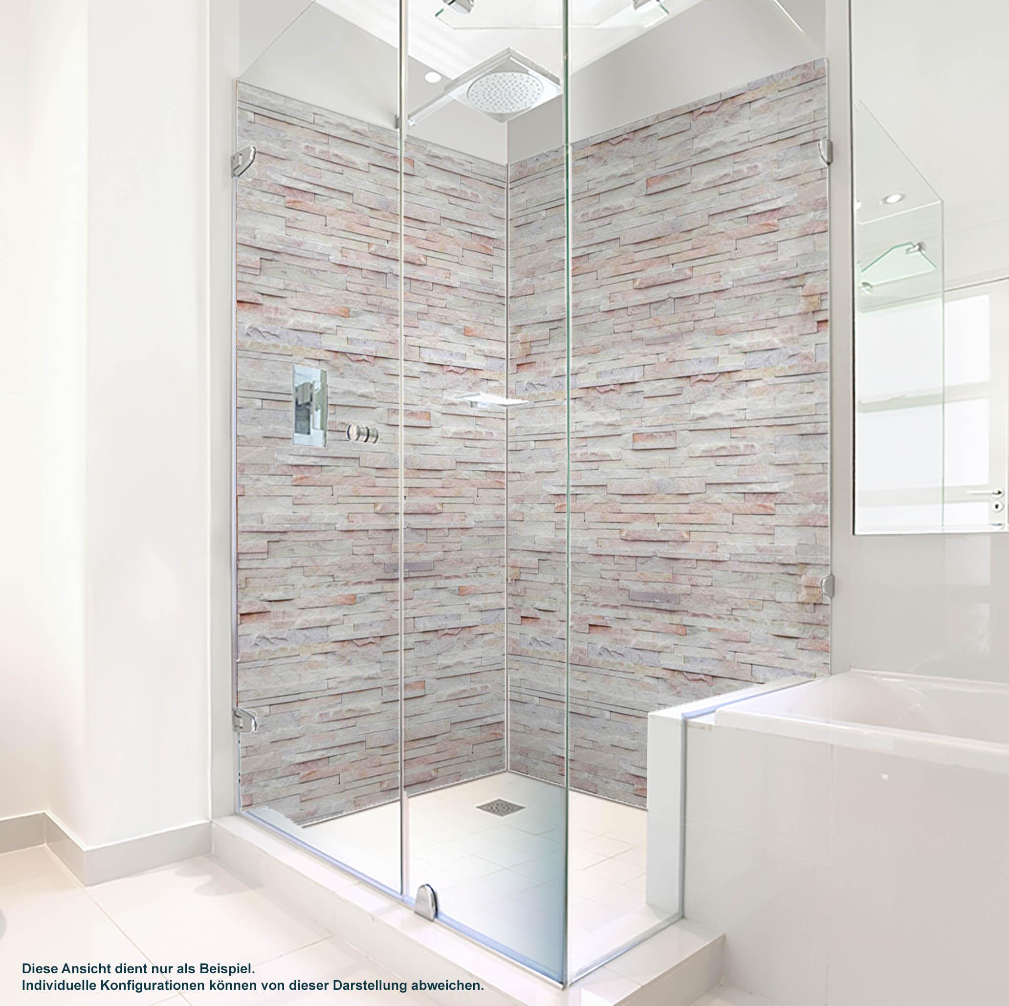 Dusche PlateART Duschrückwand mit Motiv Marmor gebrochen