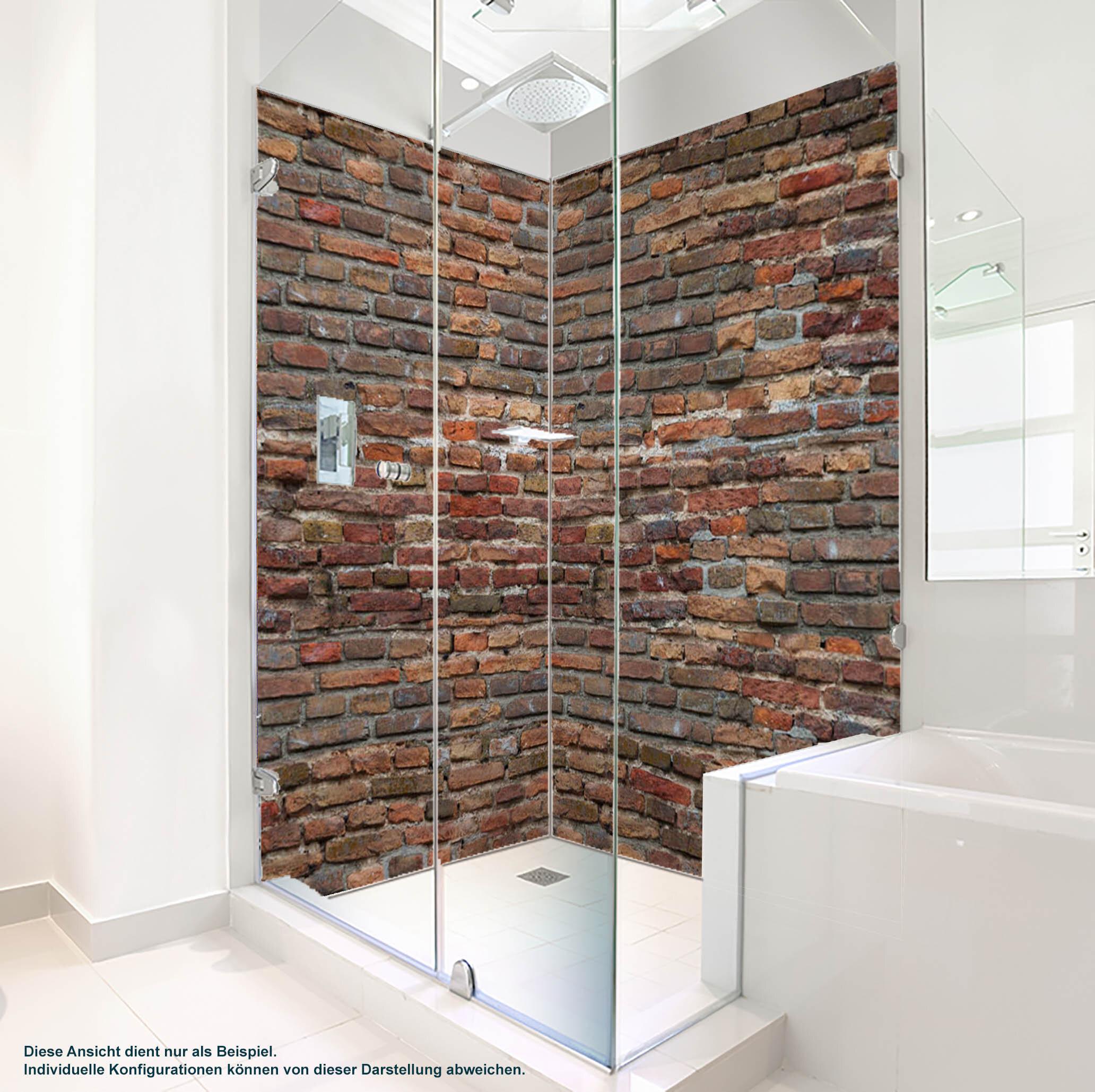 Dusche PlateART Duschrückwand mit Motiv Stein Wand