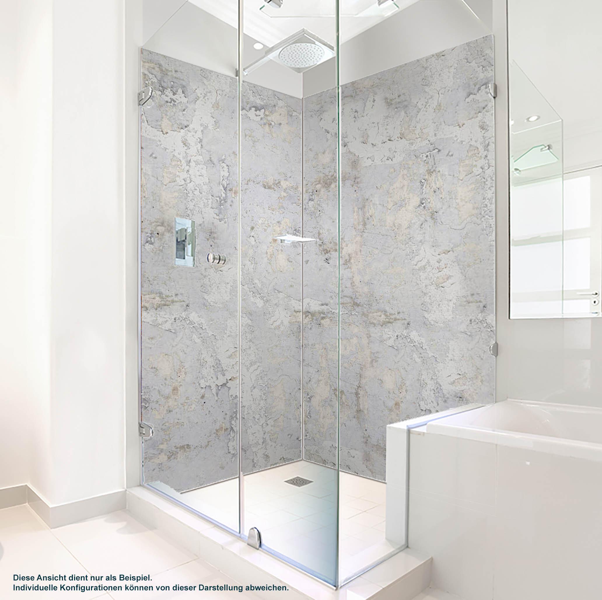 Dusche PlateART Duschrückwand mit Motiv Beton gestrichen
