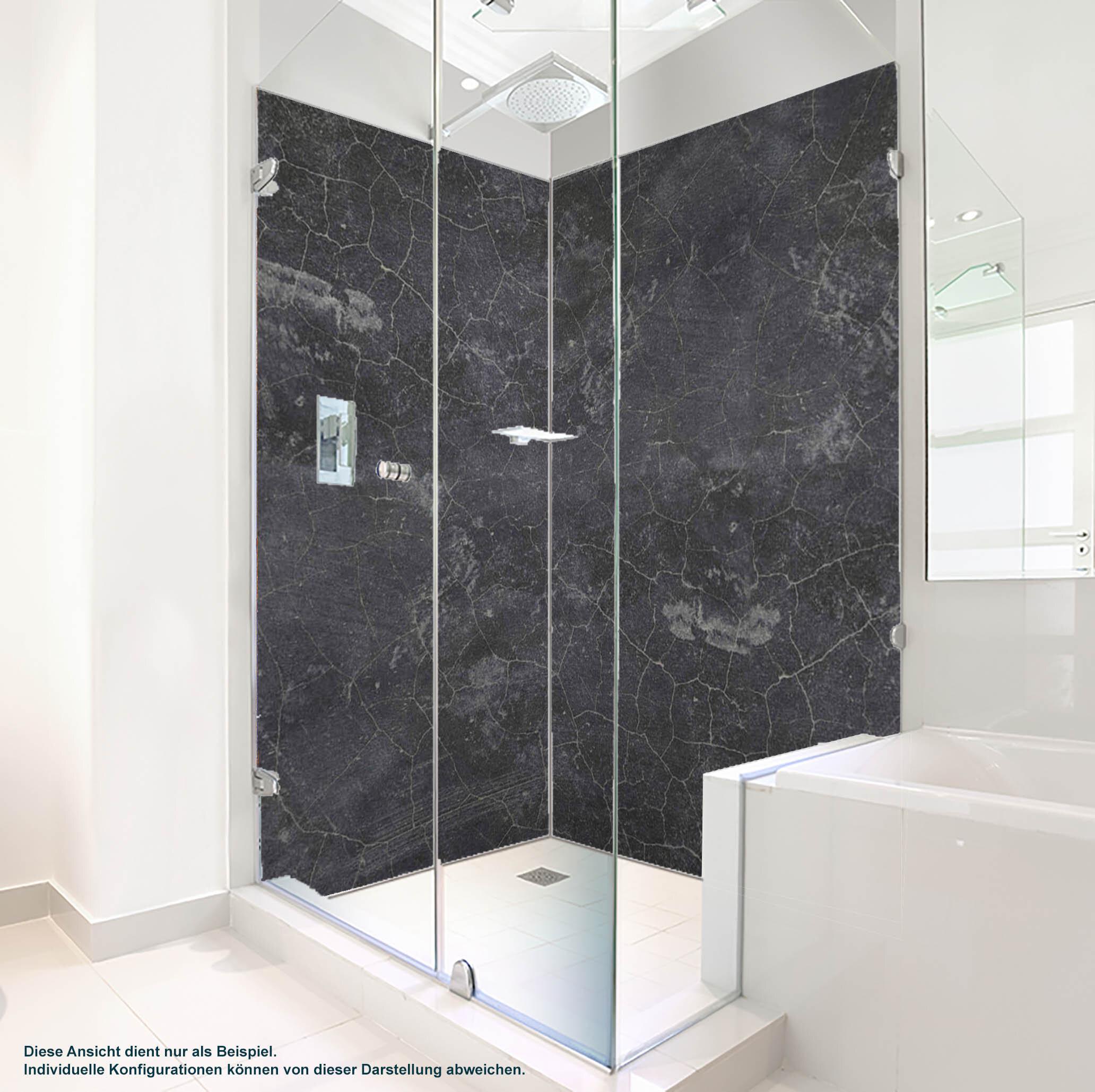 Dusche PlateART Duschrückwand mit Motiv Granit