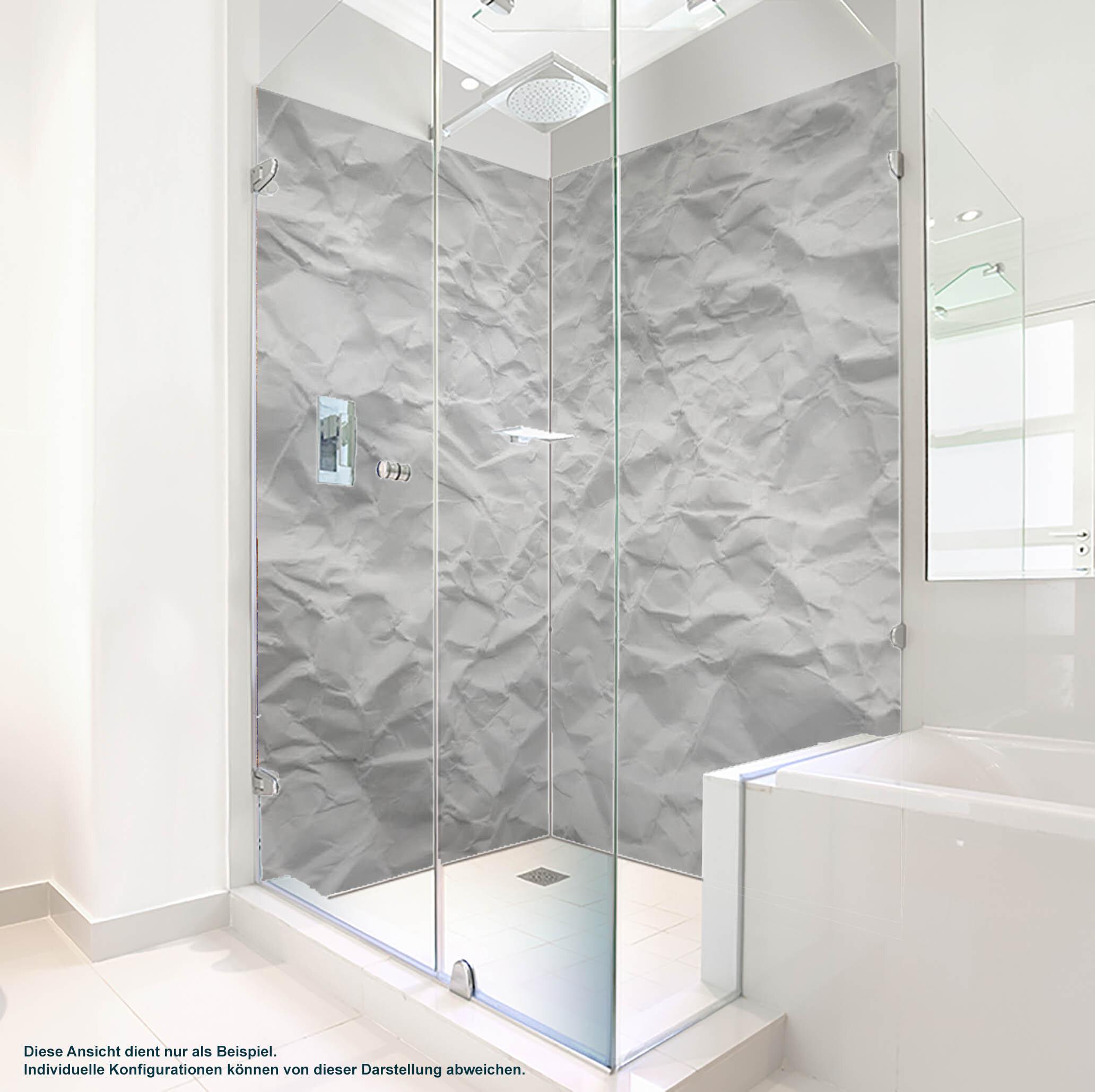 Dusche PlateART Duschrückwand mit Motiv Papier