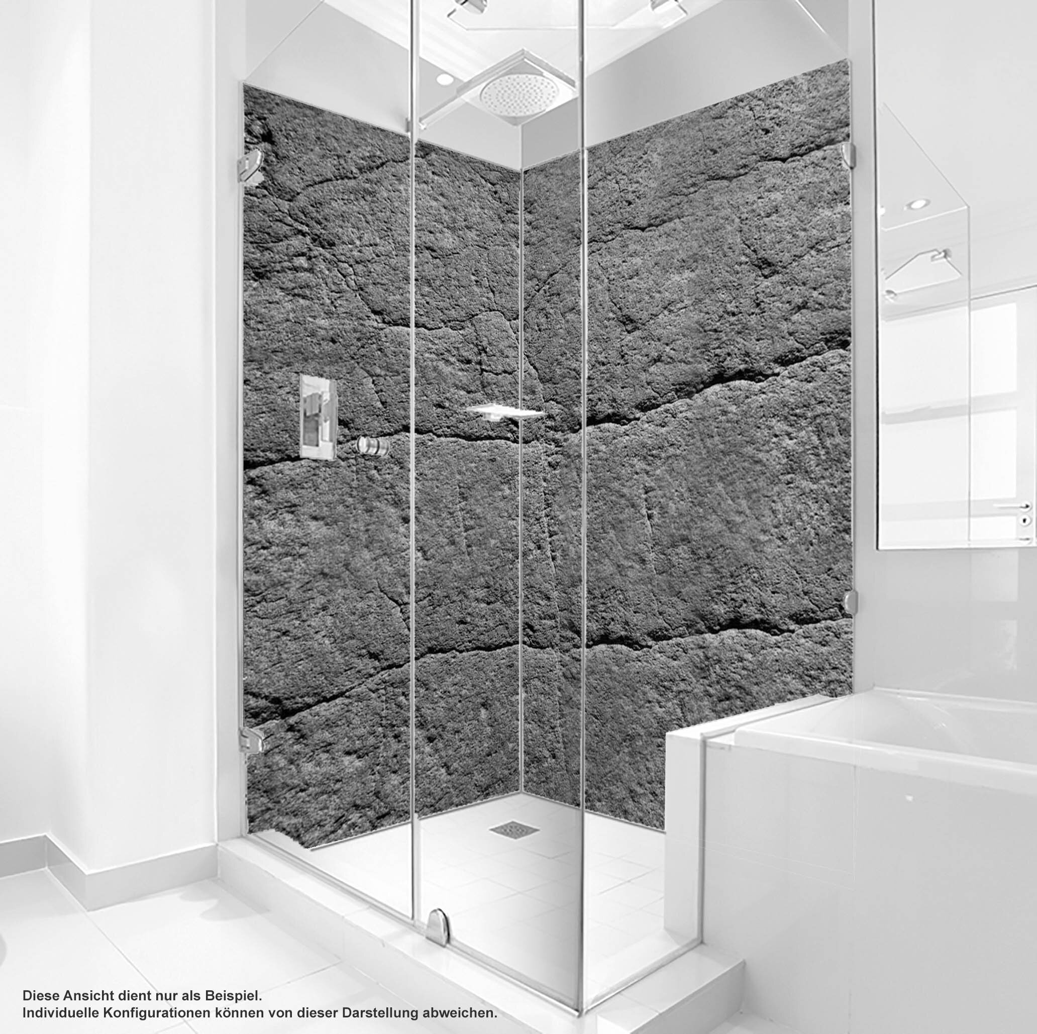 Dusche PlateART Duschrückwand mit Motiv Felswand