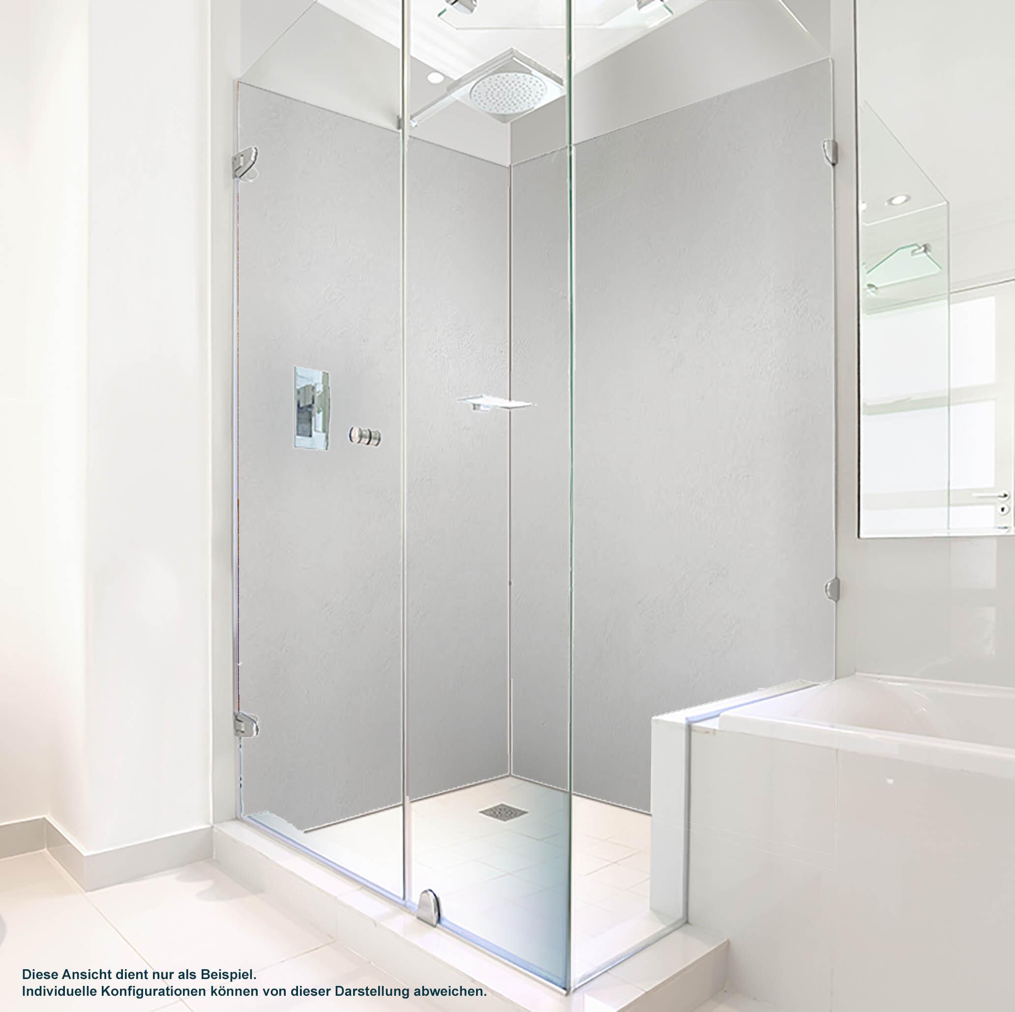 Dusche PlateART Duschrückwand mit Motiv weißer Putz
