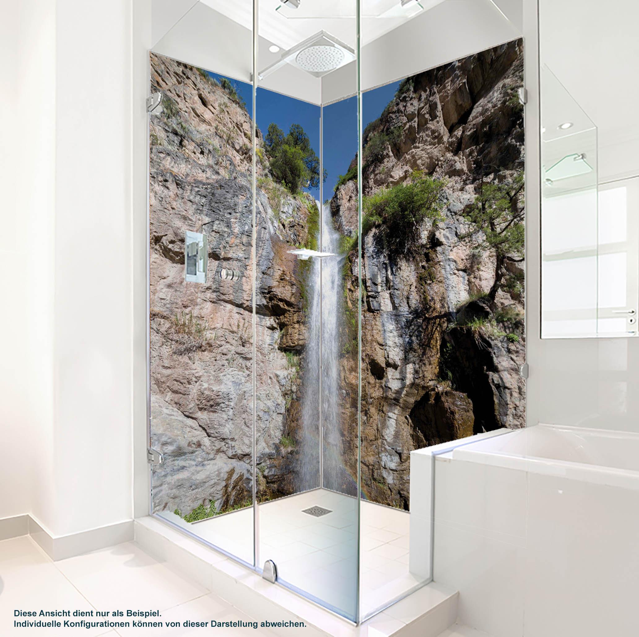 Dusche PlateART Duschrückwand mit Motiv Wasserfall WF_01_16