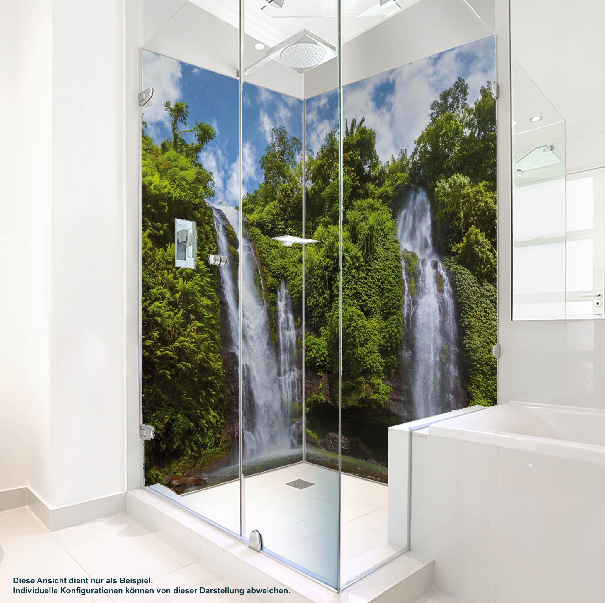 Dusche PlateART Duschrückwand mit Motiv Wald