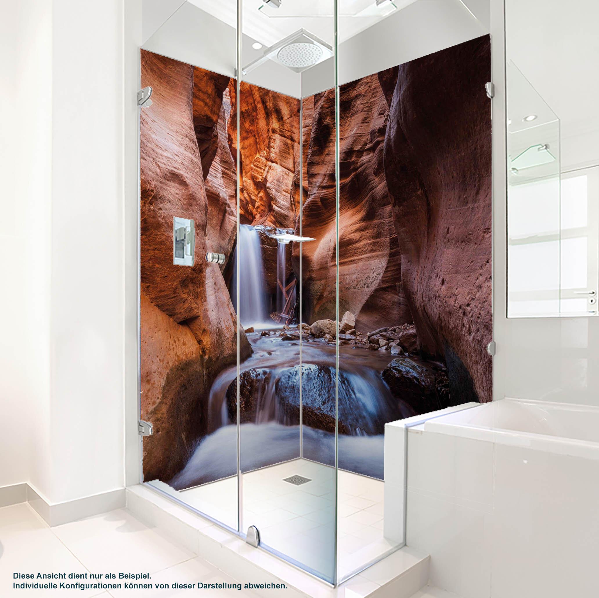 Dusche PlateART Duschrückwand mit Motiv Wasserfall WF_06_17