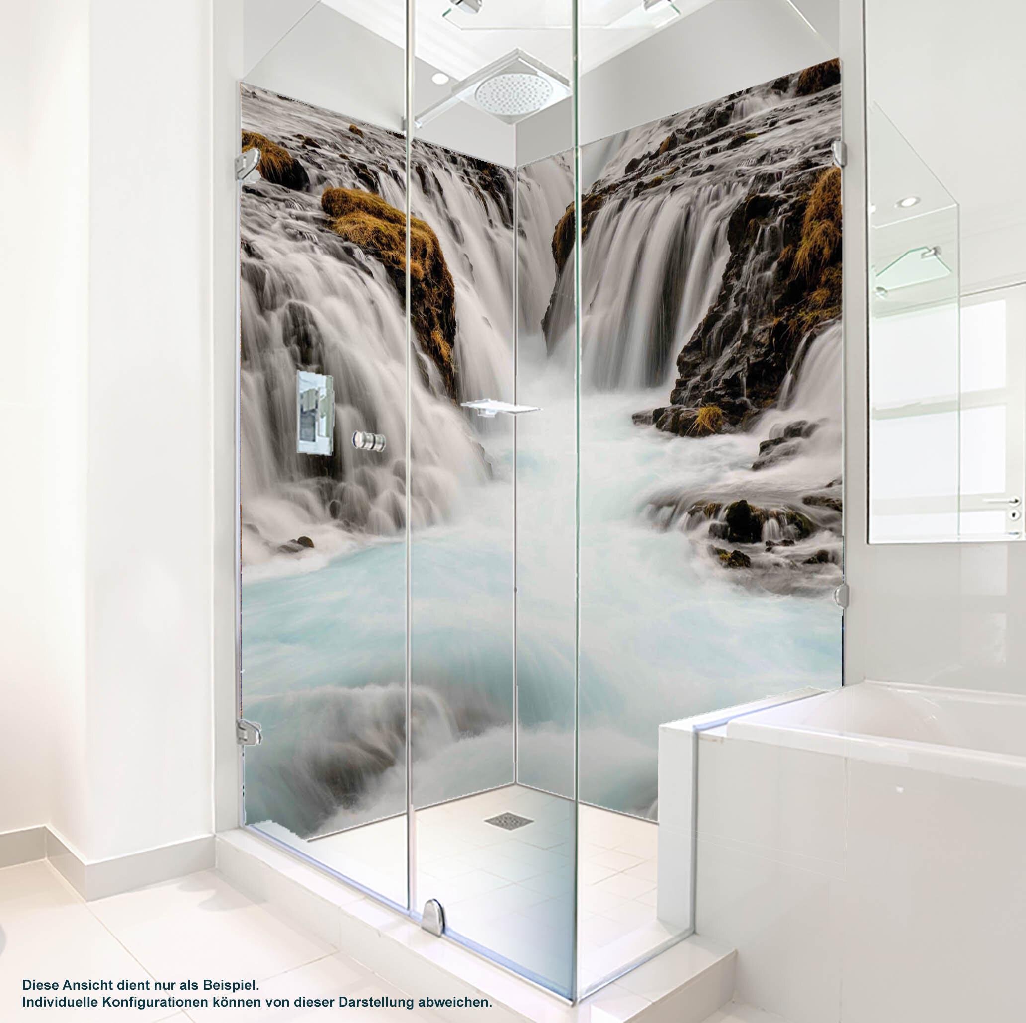 Dusche PlateART Duschrückwand mit Motiv Wasserfall WF_13_19