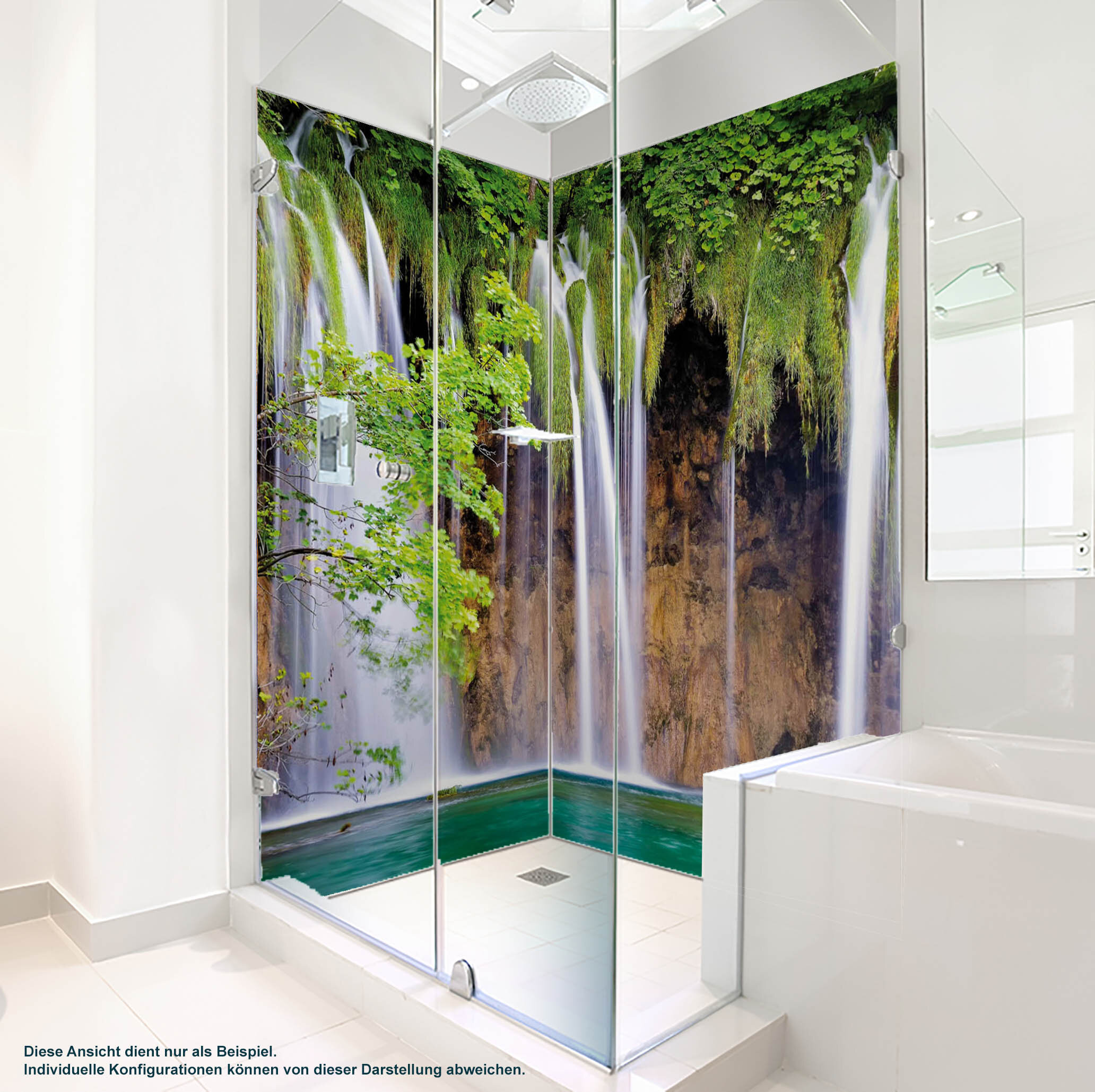 Dusche PlateART Duschrückwand mit Motiv Wasserfall Wf_14_20