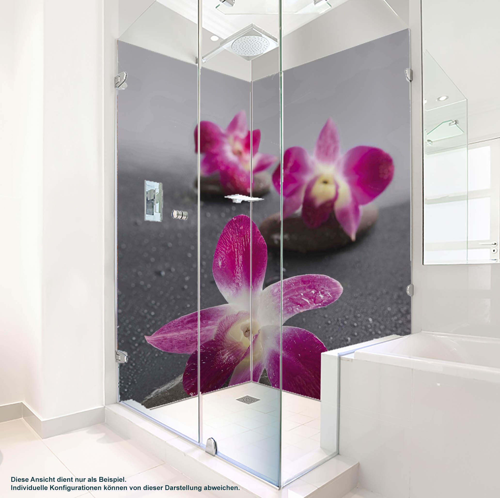 Dusche PlateART Duschrückwand mit Motiv Wellness ZEN Orchidee