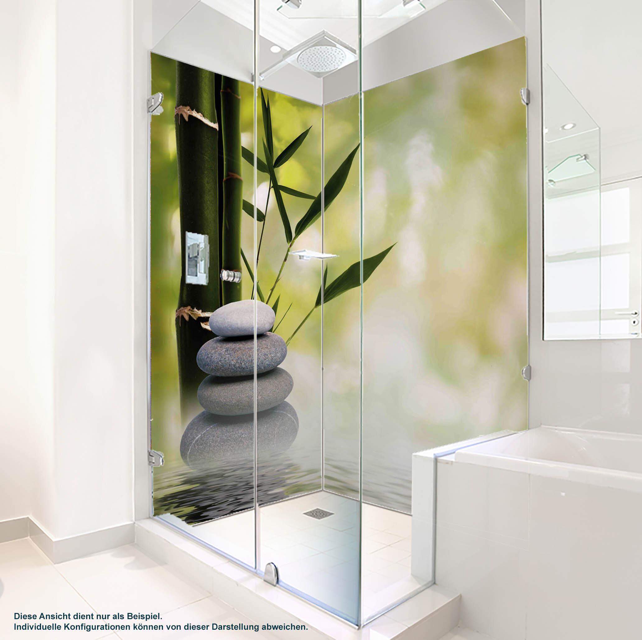 Dusche PlateART Duschrückwand mit Motiv Wellness ZEN Bambus