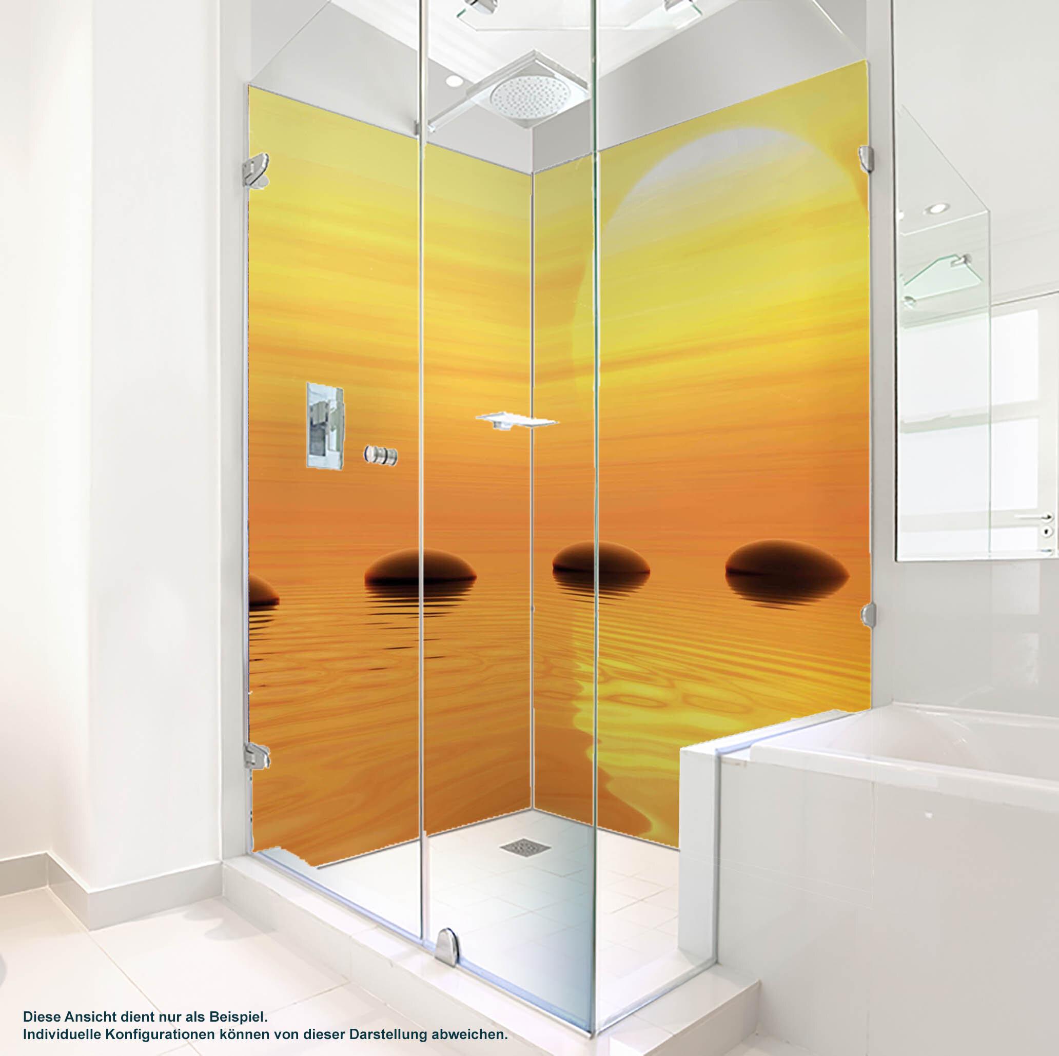 Dusche PlateART Duschrückwand mit Motiv Wellness ZEN Steine Wasser