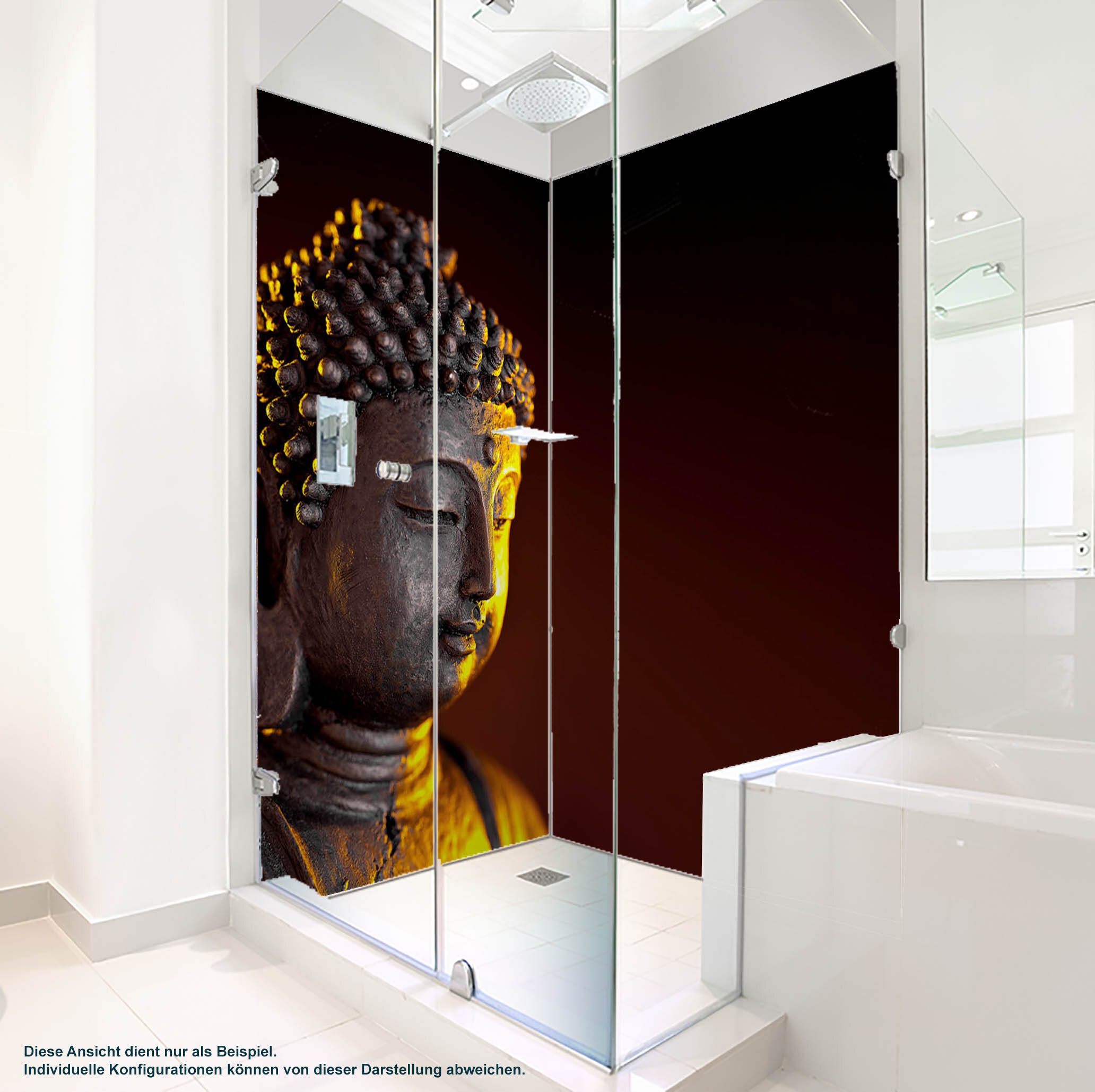 Dusche PlateART Duschrückwand mit Motiv Buddha