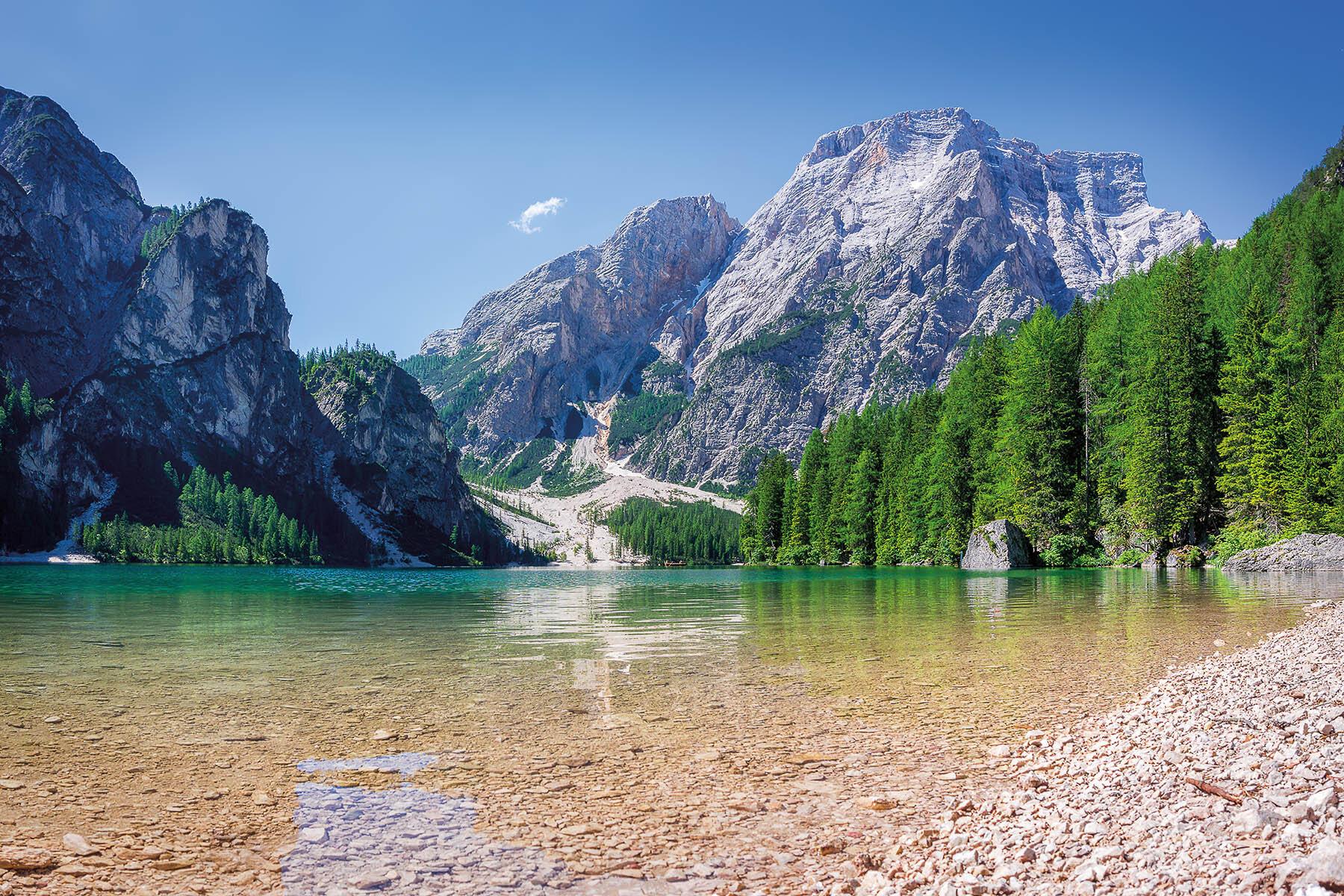 PlateART Duschrückwand mit Motiv Bergsee