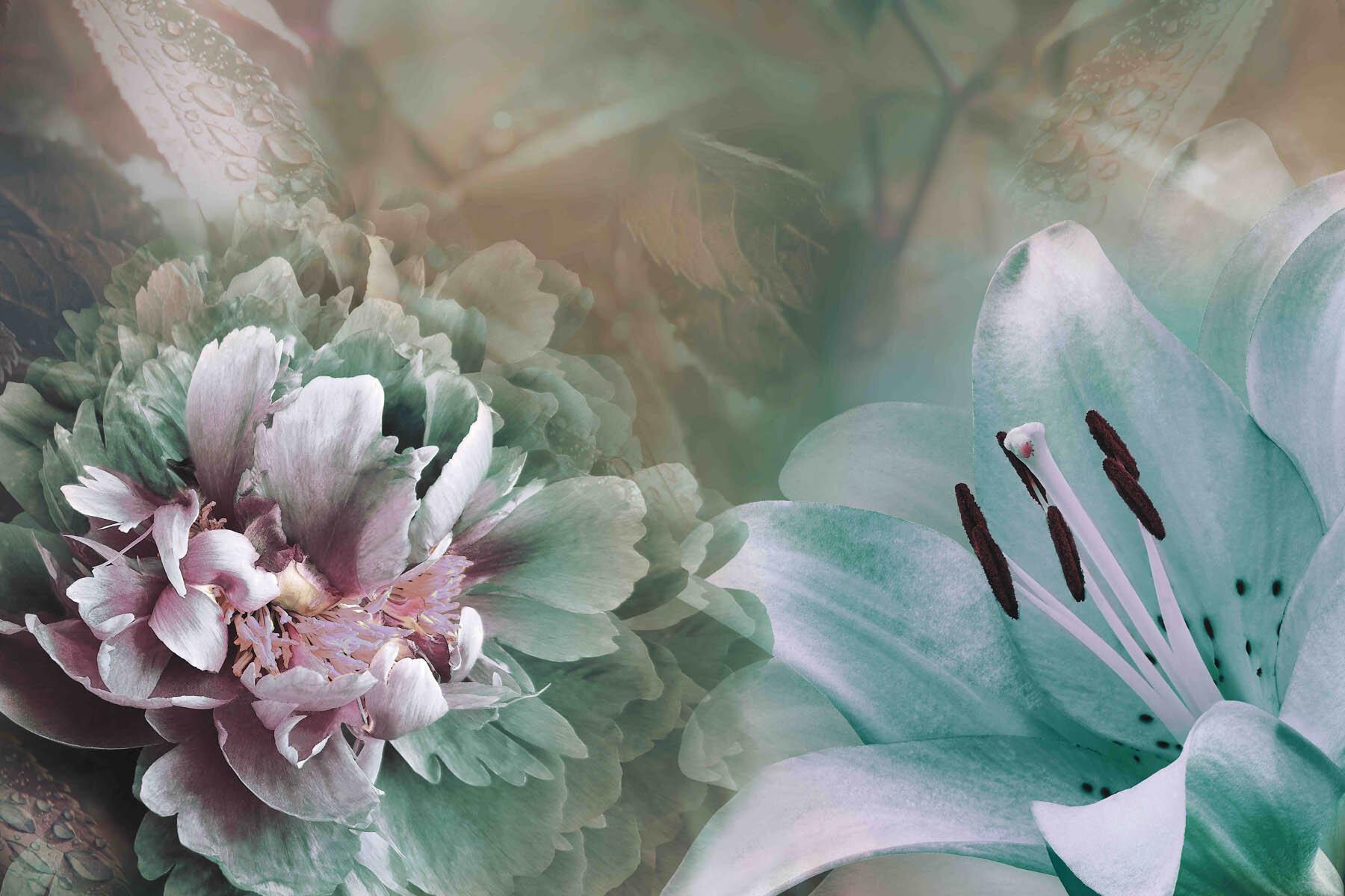 PlateART Wandverkleidung mit Motiv Blumen und Blüten
