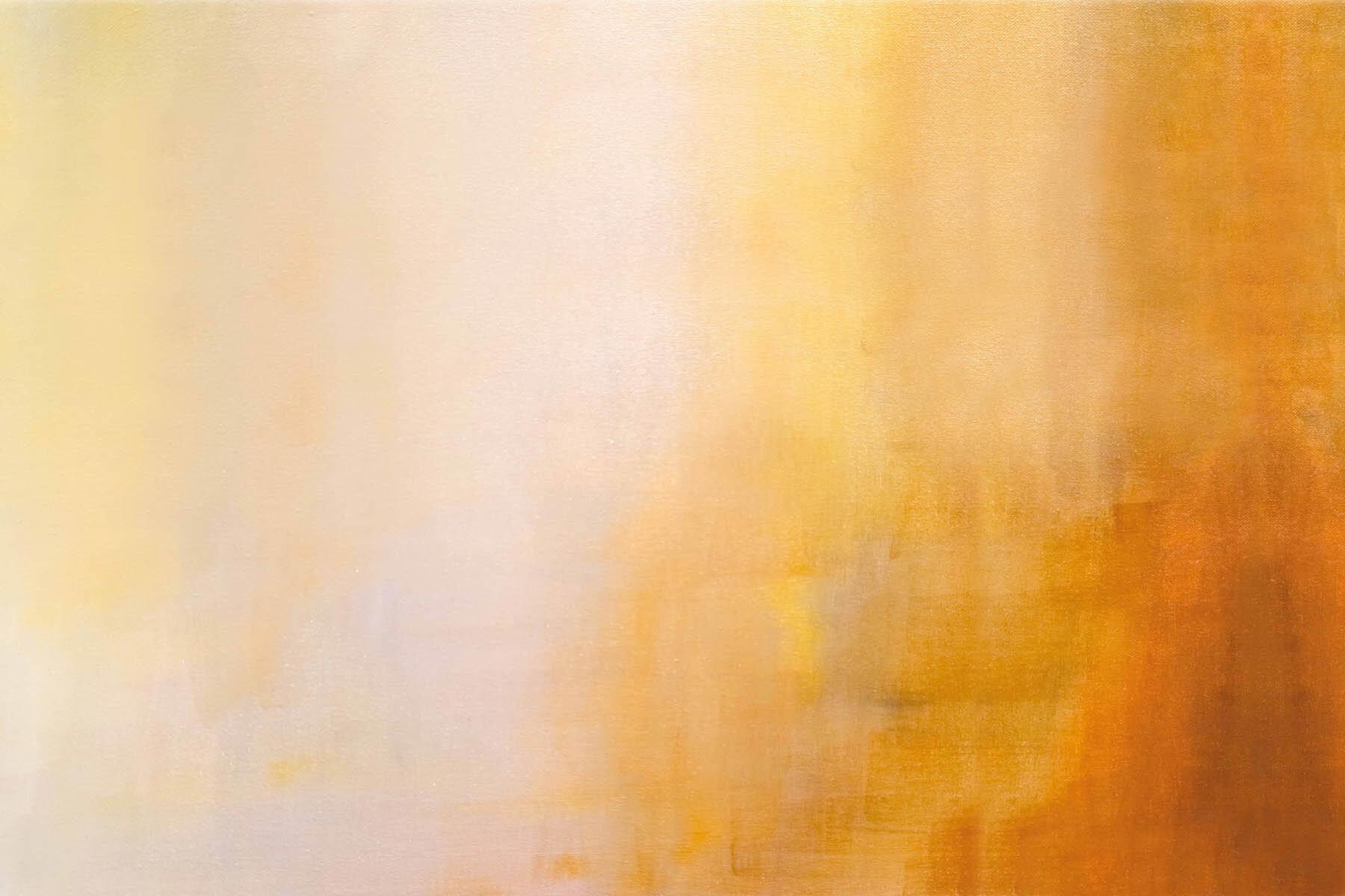 PlateART Duschrückwand mit Motiv Design Leinwand Orange